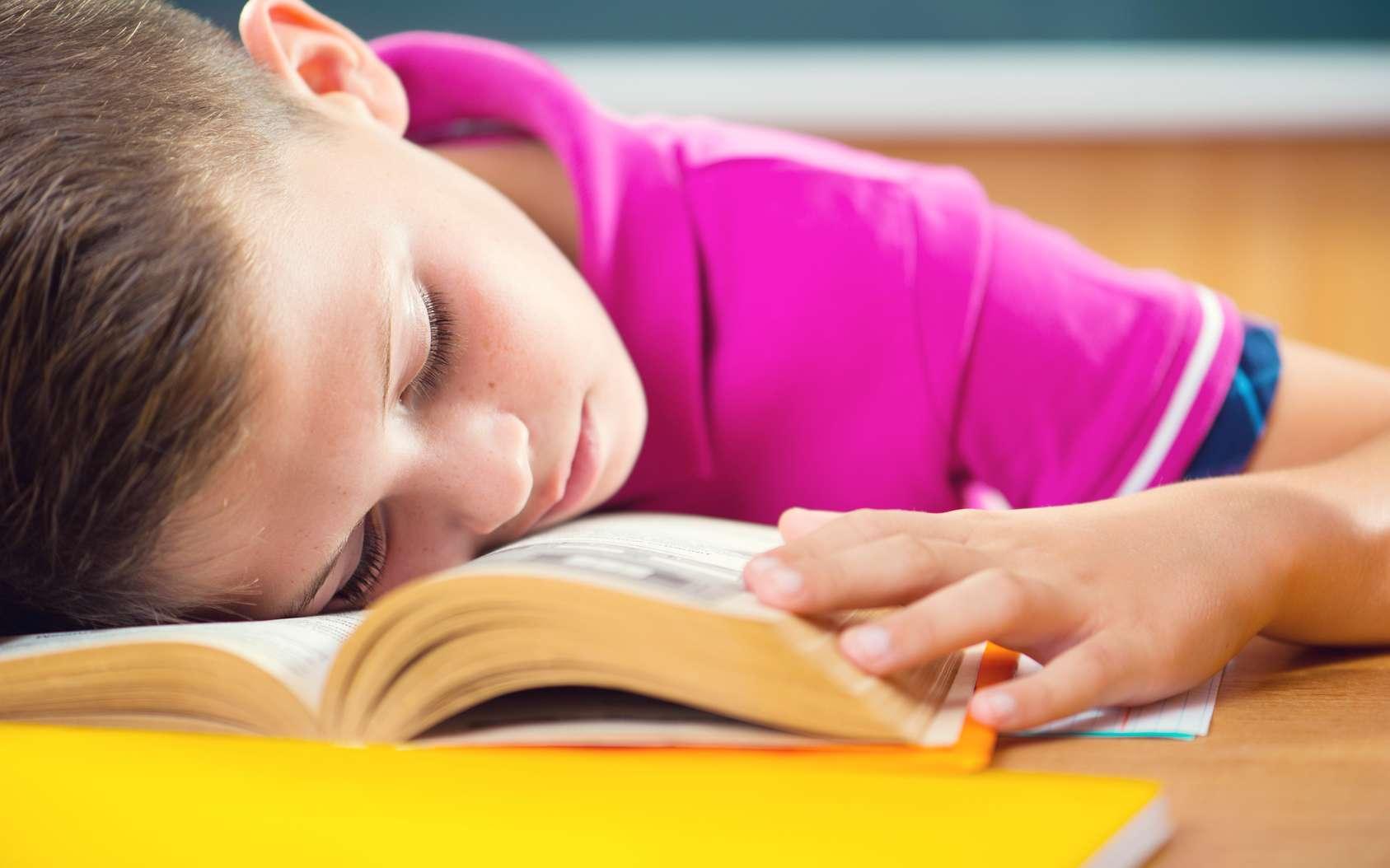 Cet élève endormi pourrait bien être en train de réviser ses leçons, à condition qu'il entende celles-ci répétées à l'oral. © spass, Fotolia