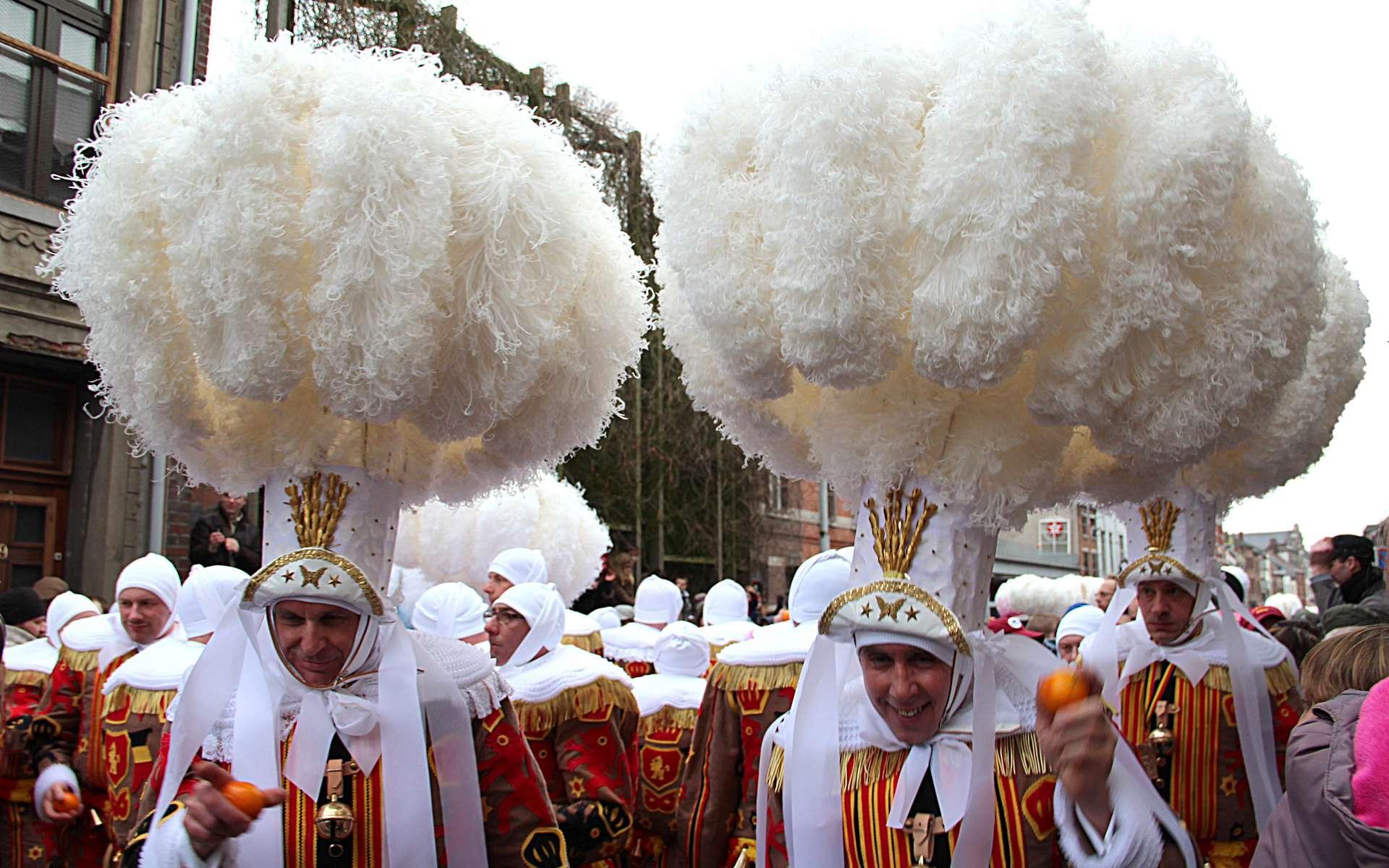 Quel panache ! Défilé des Gilles pendant le carnaval de Binche. © Jean-Pol Grandmont, Wikimedia Commons, by-sa 3.0