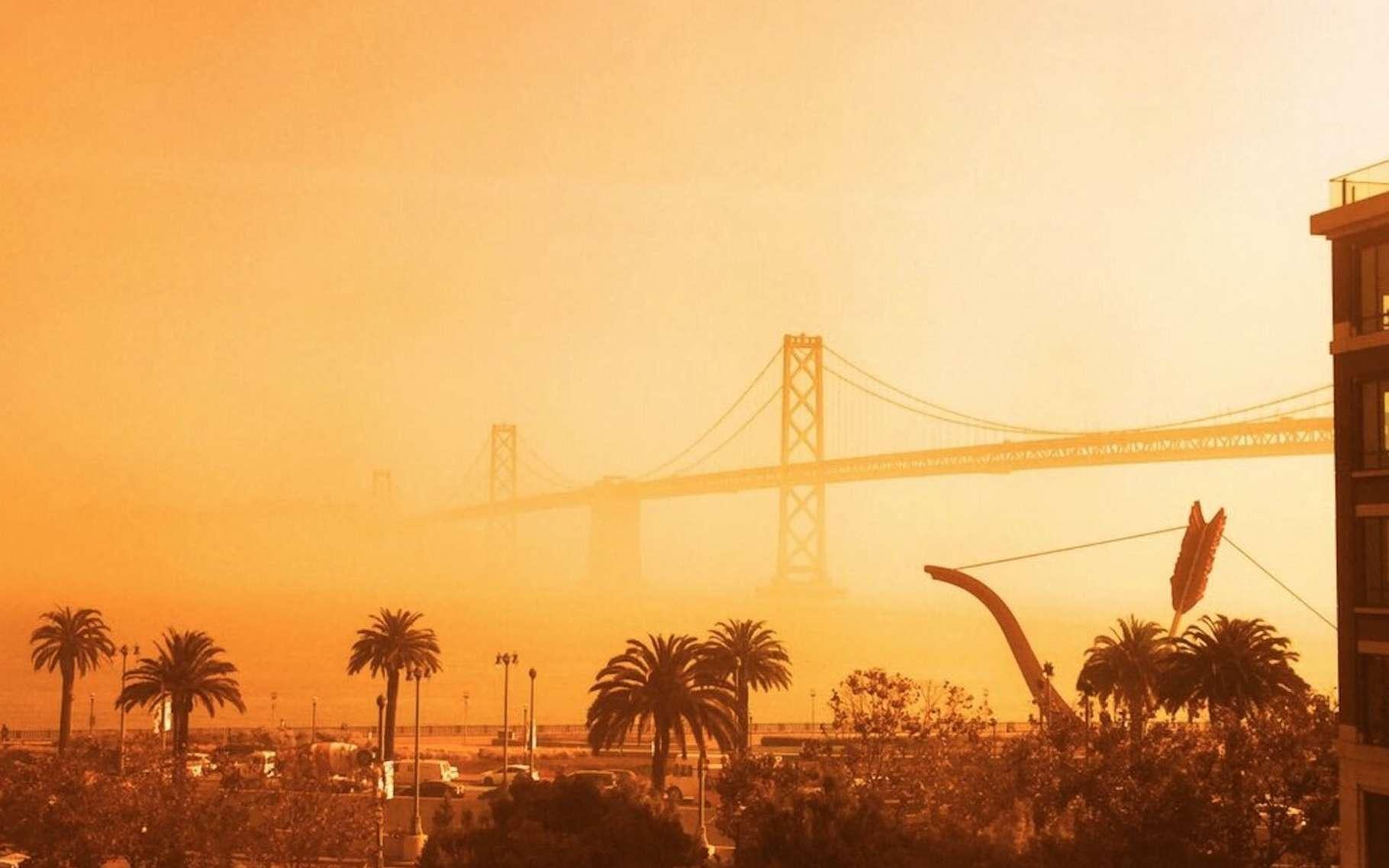 Le ciel orange observé en Californie récemment, ici le 9 septembre 2020. © Ice, Tweeter