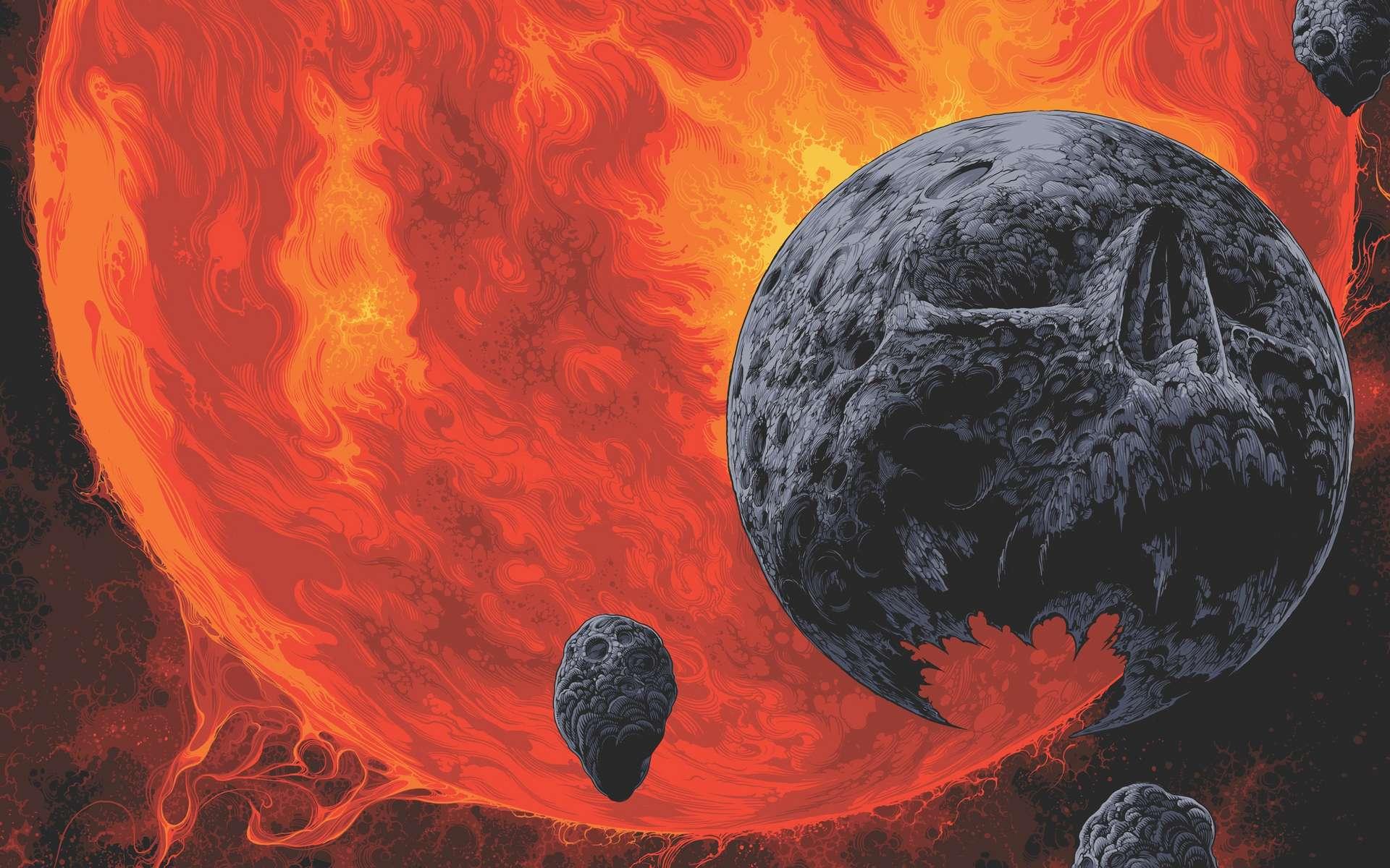 Extrait de l'affiche Galactic Graveyard. © Nasa, JPL-Caltech