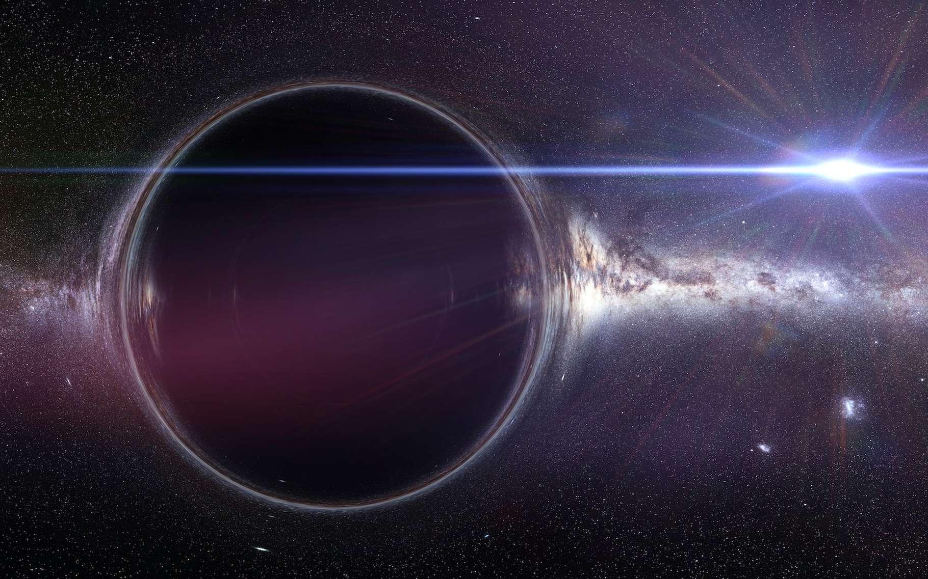 Le « battement de cœur » découvert du côté d'un trou noir supermassif en 2007 est toujours actif aujourd'hui. Les astronomes espèrent pouvoir en tirer des informations utiles quant à l'environnement de l'objet. © dottedyeti, Adobe Stock
