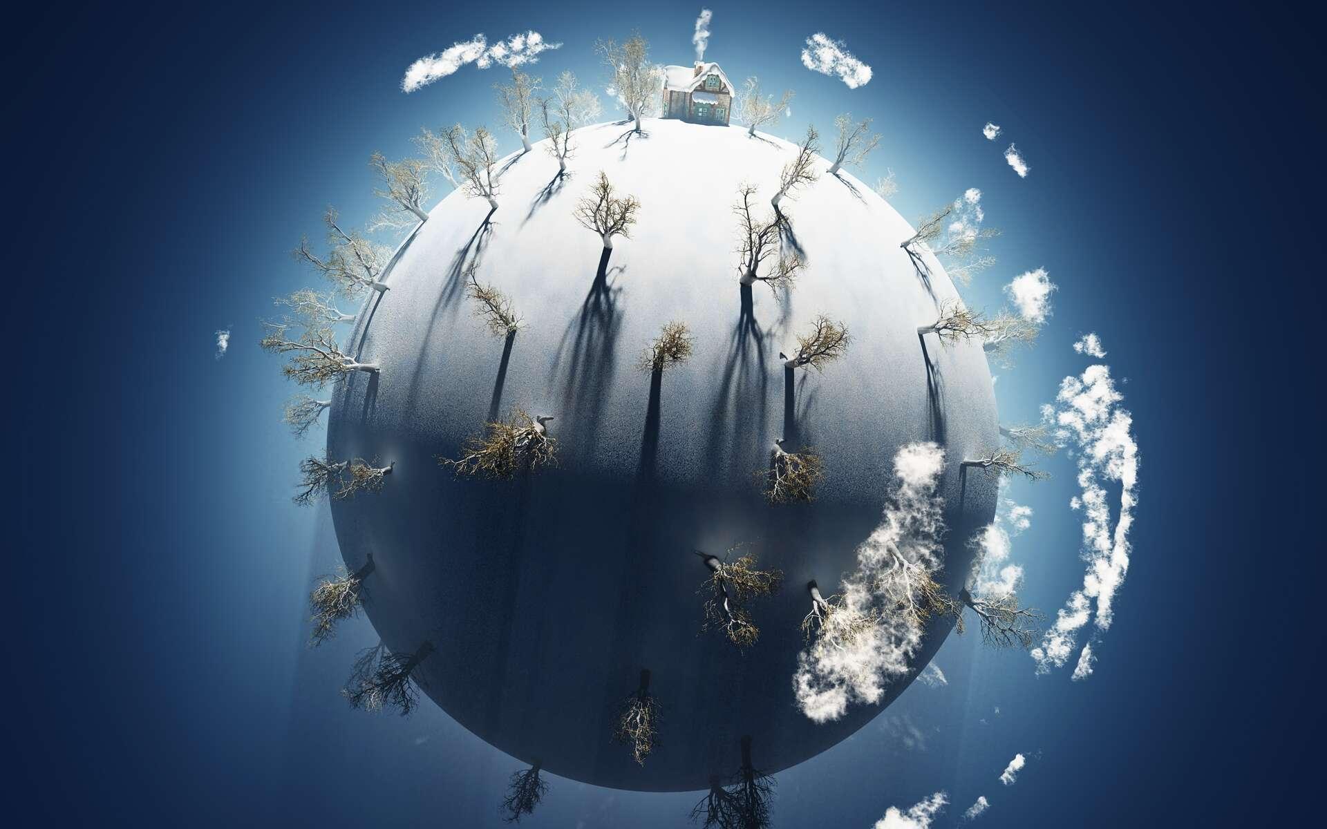 Dans le passé, la Terre aurait été (presque) entièrement recouverte de glace. © Photobank, Adobe Stock