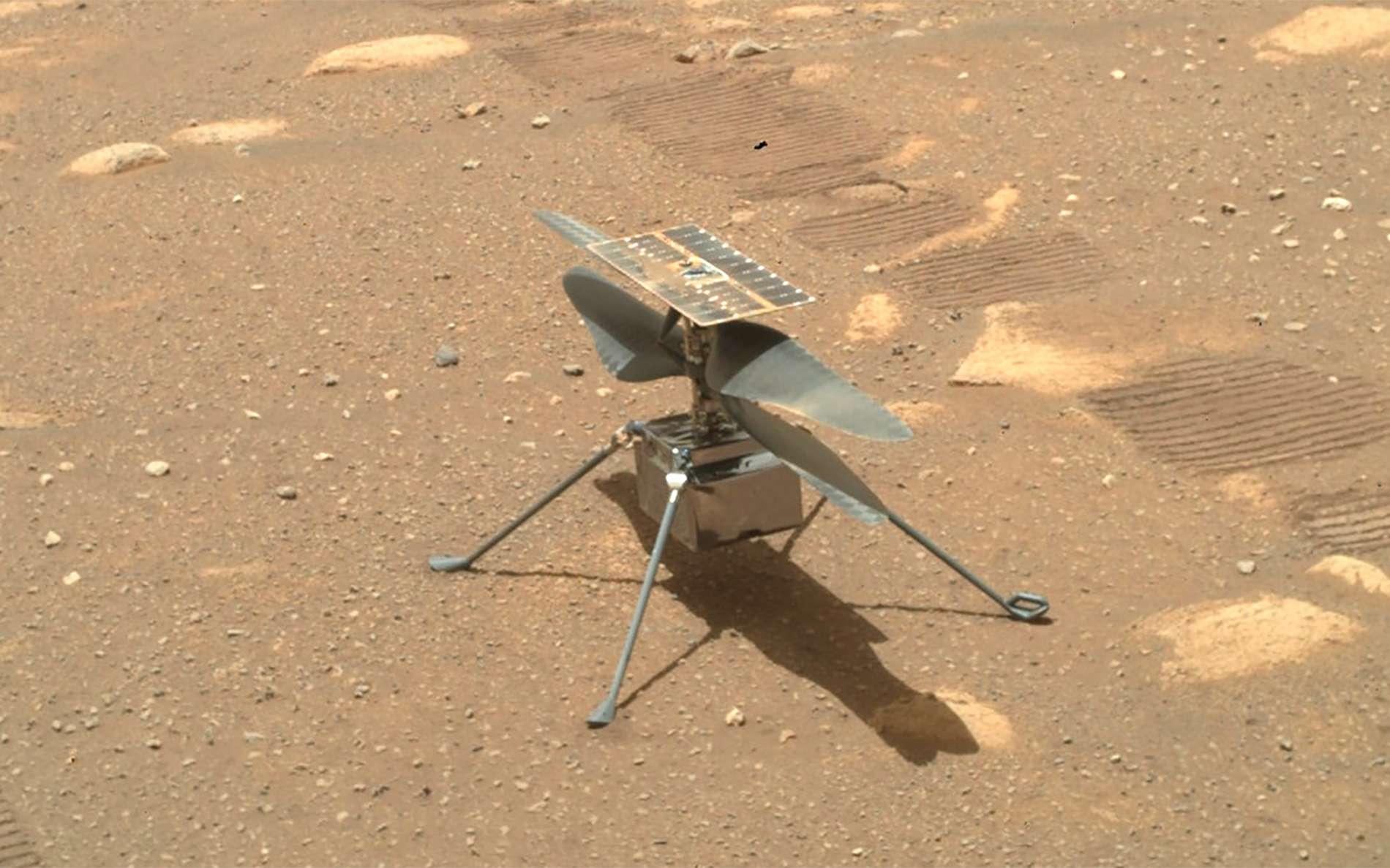 Ingenuity sur le sol de Mars. © Nasa, JPL-Caltech