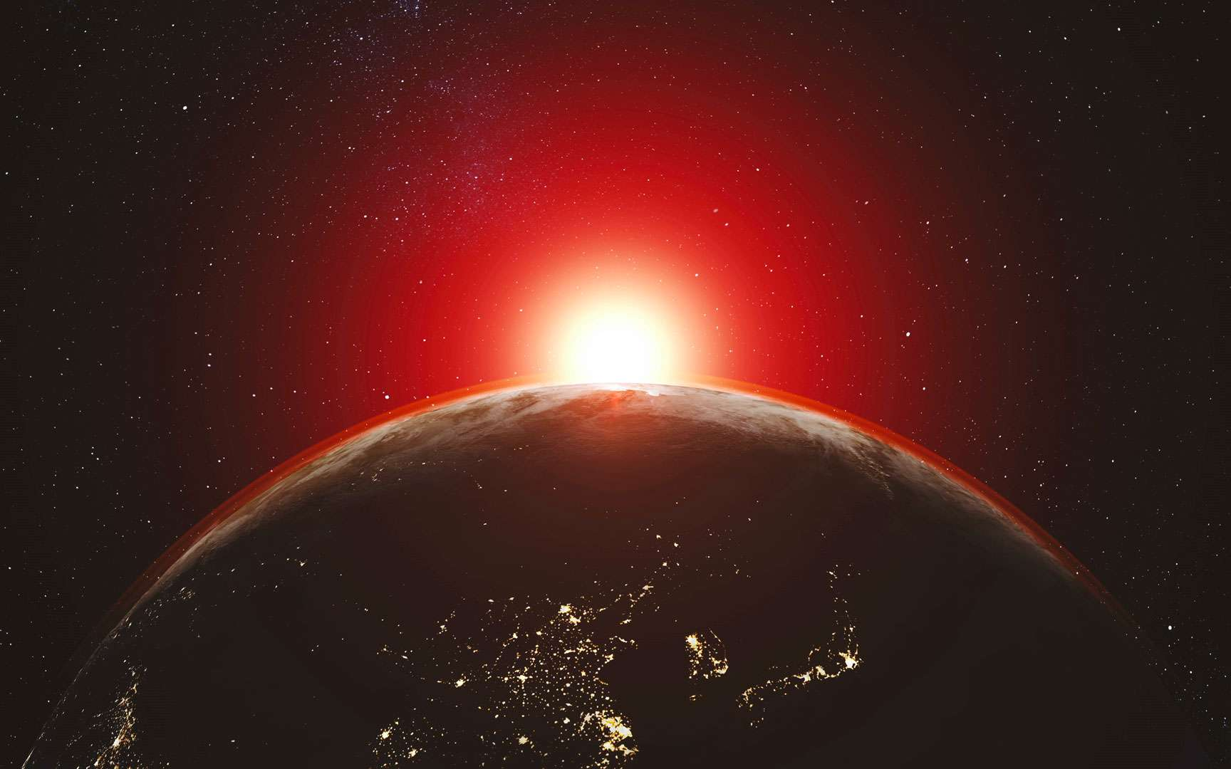 La Terre vue depuis l'espace en orbite autour du Soleil ©goinyk, Envato Elements