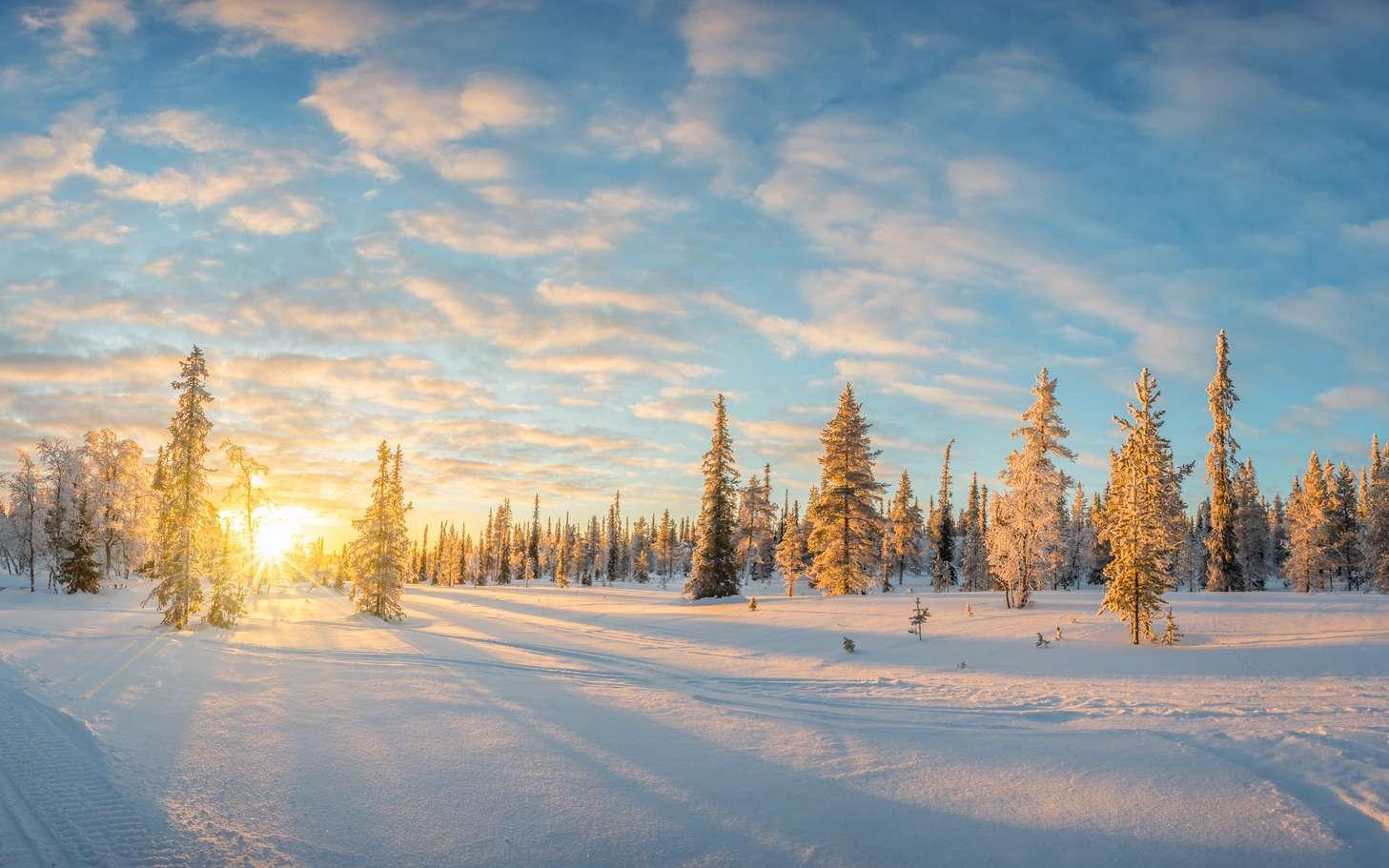 Le jour du solstice d'hiver, le soleil se lève tard, ne monte pas haut et se couche tôt. © Delphotostock, Fotolia