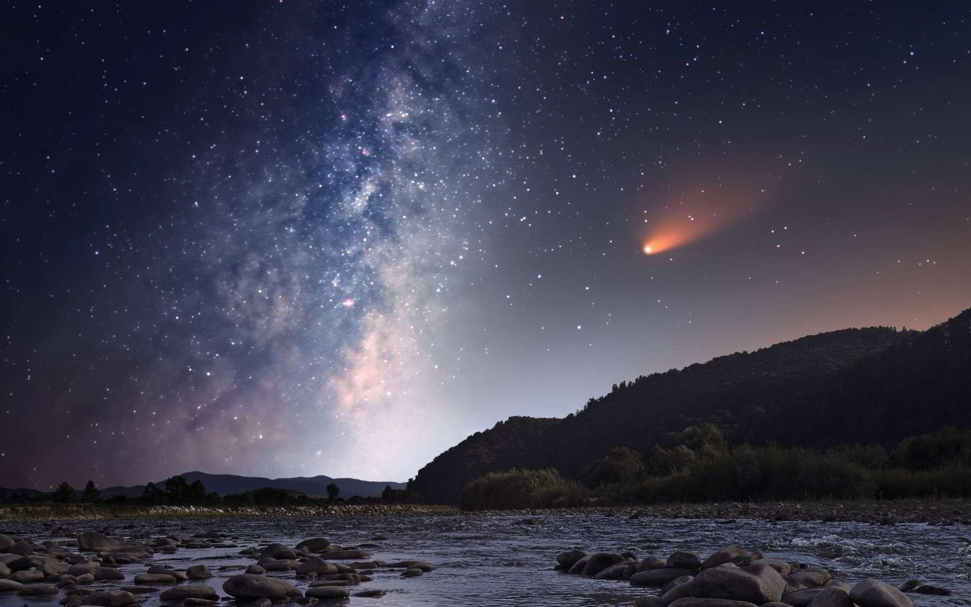 Illustration d'une comète. © Yuriy Mazur, Adobe Stock