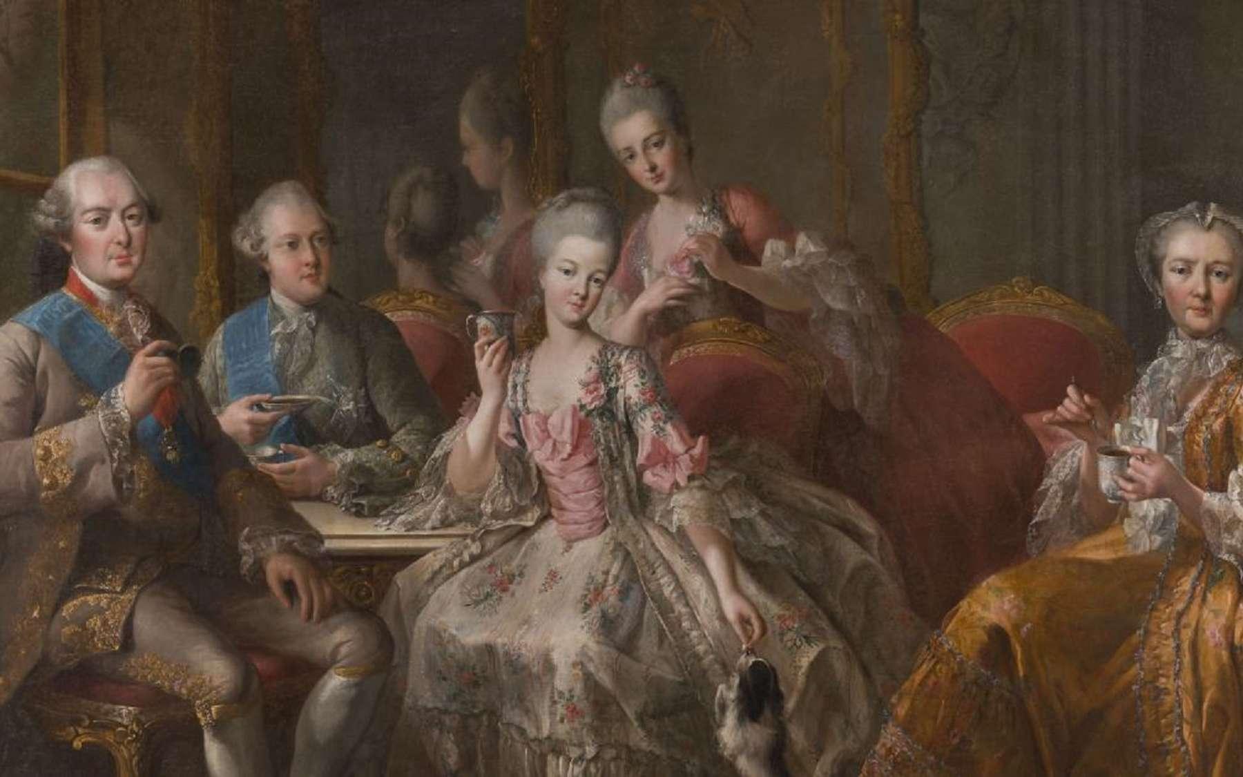 Portrait de la famille de Penthièvre dit « le thé à Trianon », 1767, par J.B. Charpentier © Château de Sceaux, France.