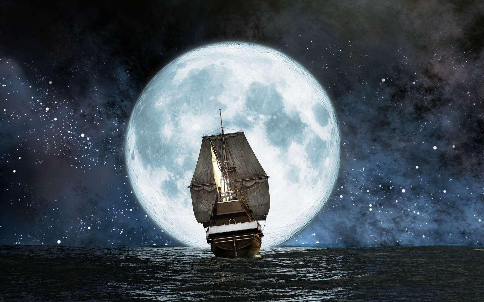 Le meilleur moyen d'atteindre la lune, c'est encore en rêve. © Juango, Fotolia