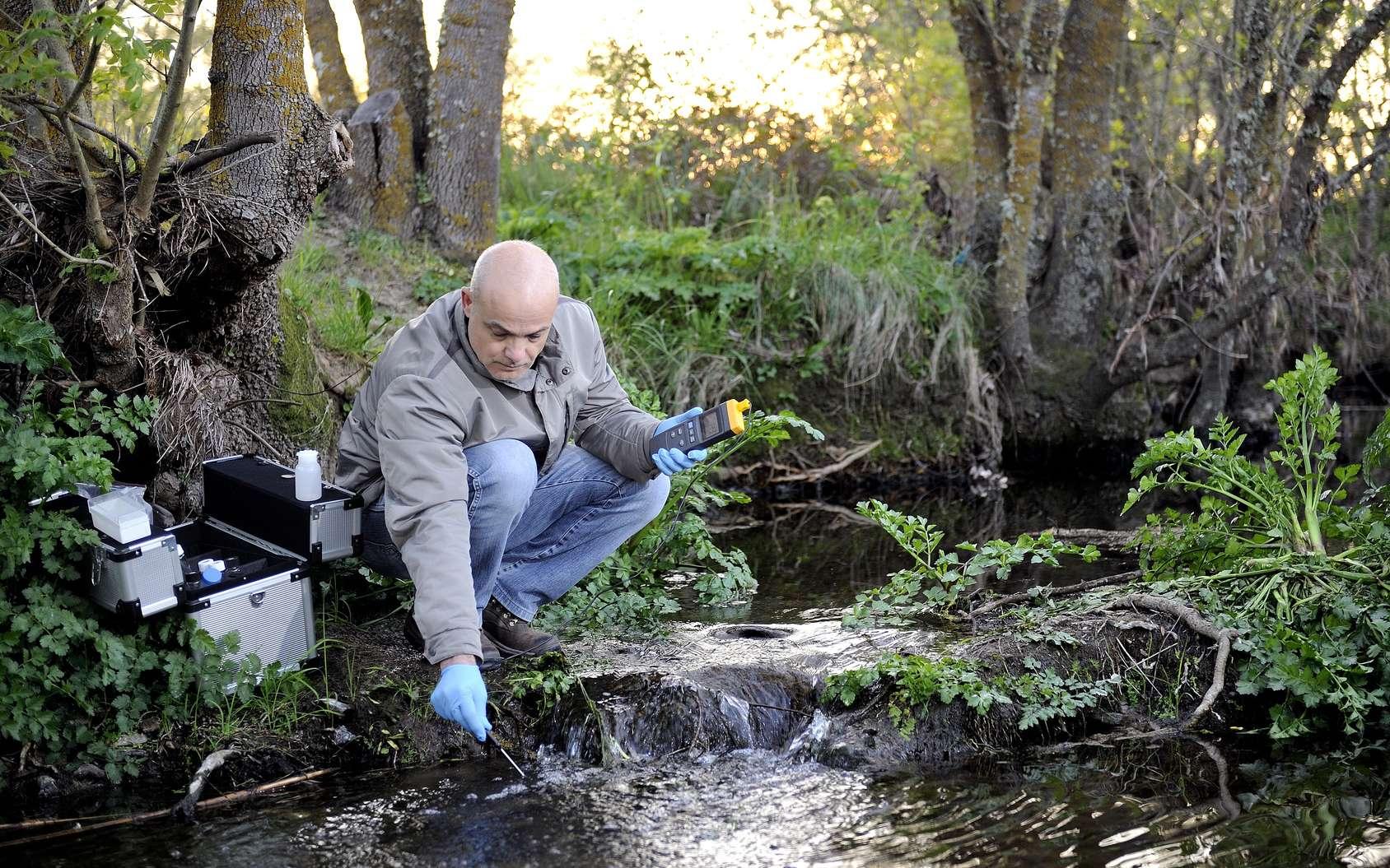 Les cours d'eau sont plus directement touchés par la pollution aux pesticides. Mais des échanges existent entre cours d'eau et eaux souterraines qui font que celles-ci ne sont pas épargnées. © francescomou, fotolia