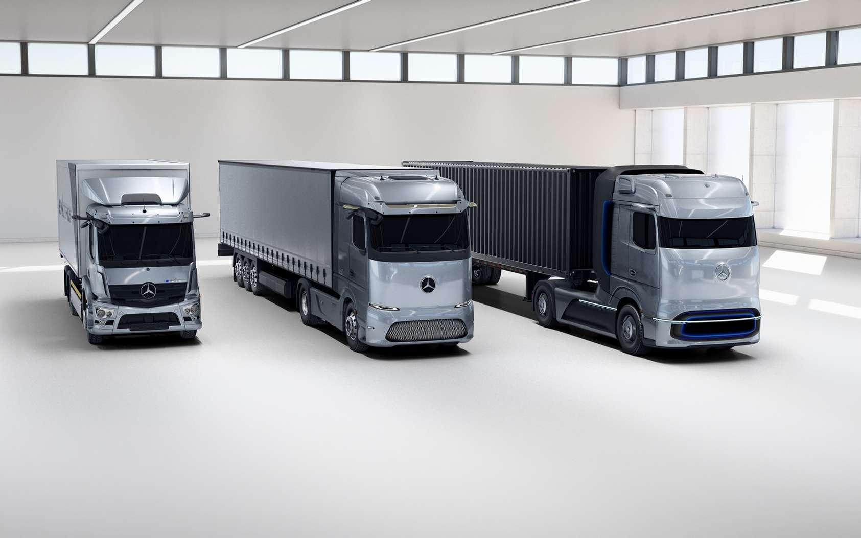 Mercedes-Benz dévoile son camion électrique longue distance et un concept de camion à hydrogène liquide