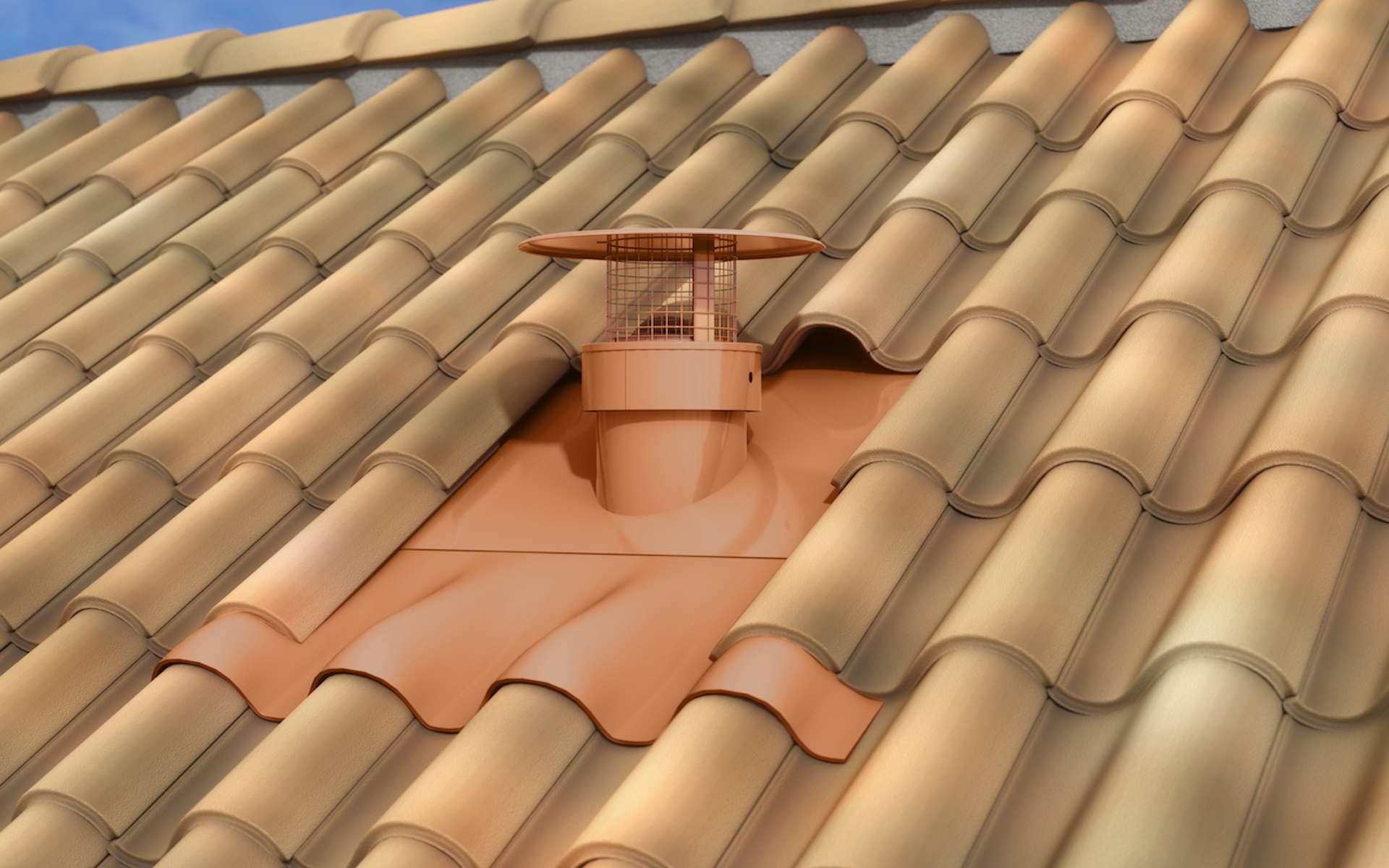 Sortie de toit « Ventila Sanit'Air » adaptable en neuf ou en rénovation © Poujoulat
