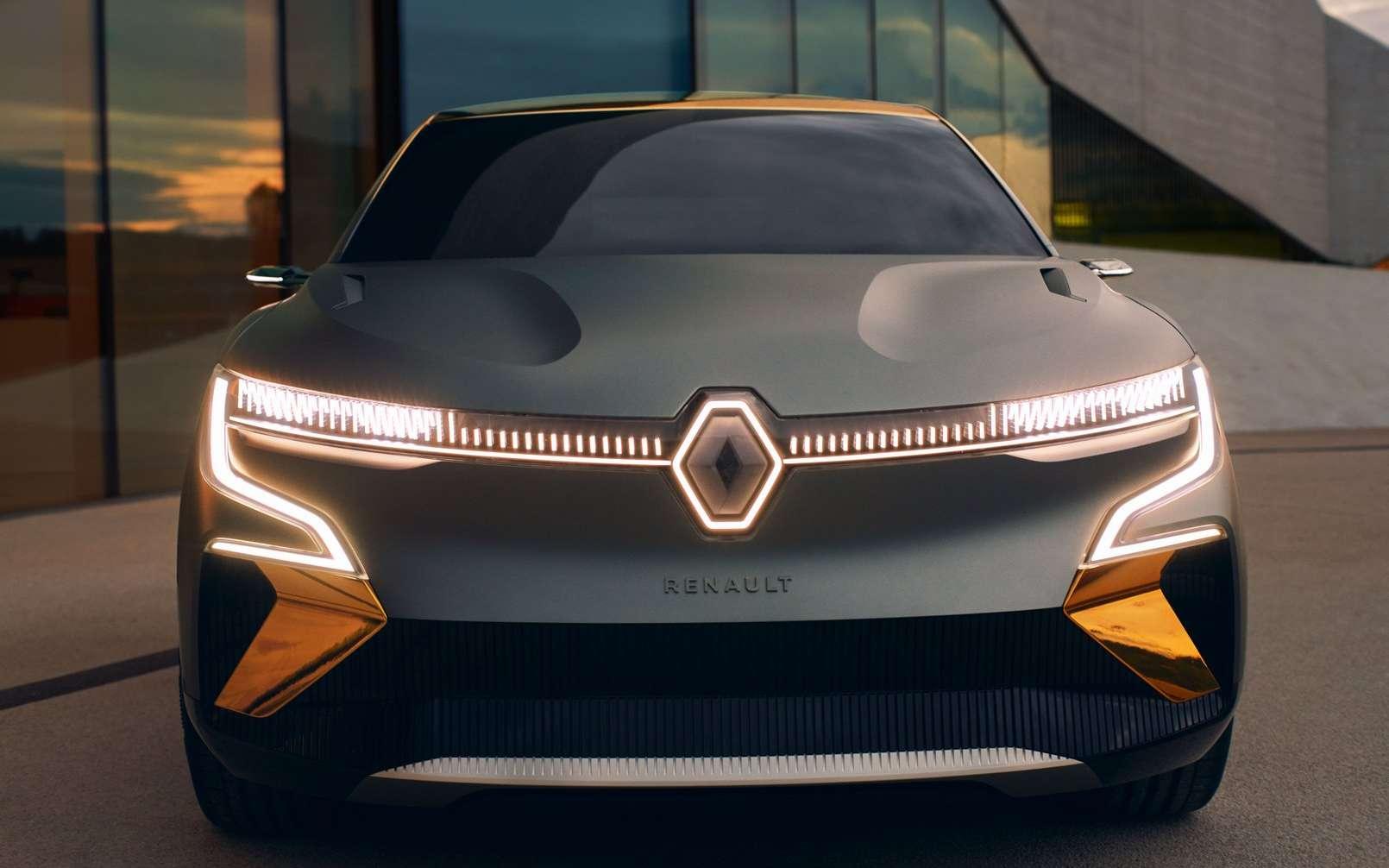 La Mégane eVision s'inspire beaucoup du concept-car Morphoz présenté en mars dernier. © Renault