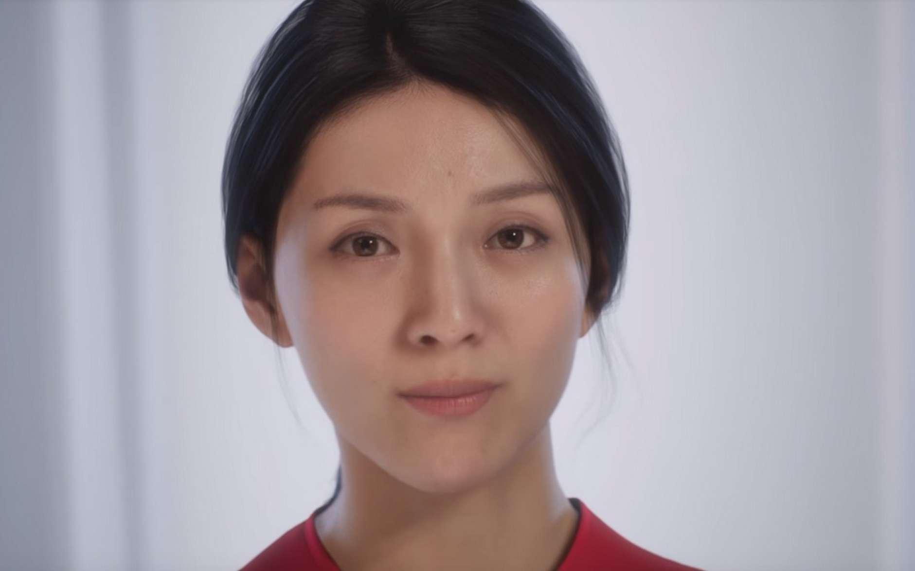 Cette jeune femme est un personnage de synthèse. © Unreal Engine