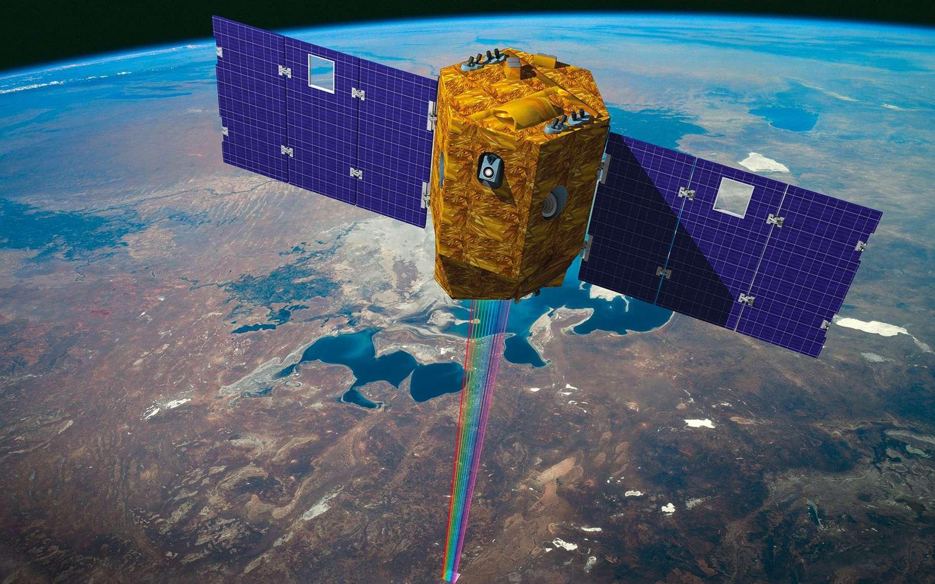 Venμs est un satellite franco-israélien conçu pour observer la Terre. Il a été construit par l'Agence spatiale israélienne tandis que le Cnes a fourni l'unique instrument du satellite et le centre de traitement et de distribution des images. © Cnes