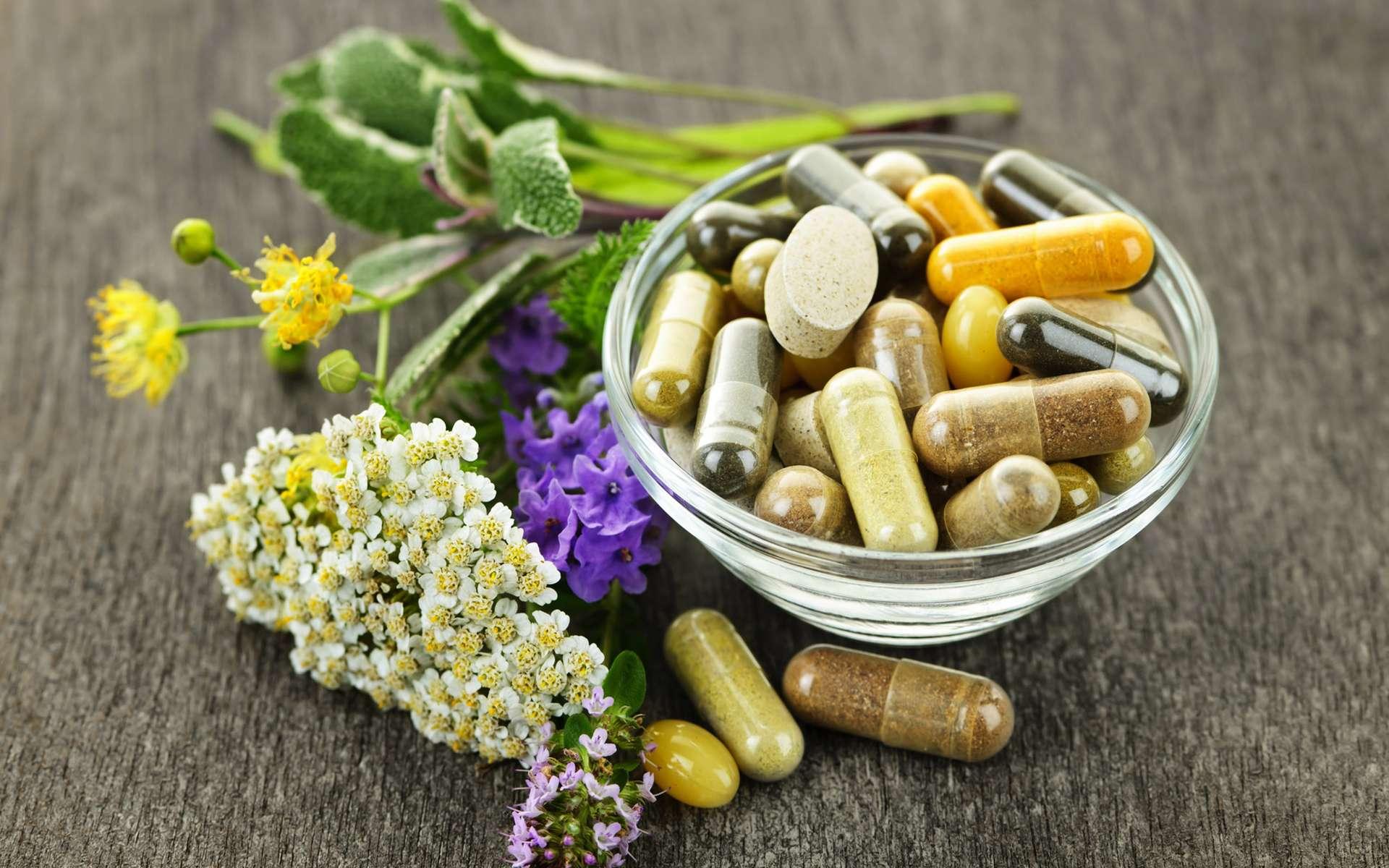 Certains compléments alimentaires à base de plantes ont des effets proches des médicaments sans être aussi bien encadrés. © Elenathewise / IStock.com