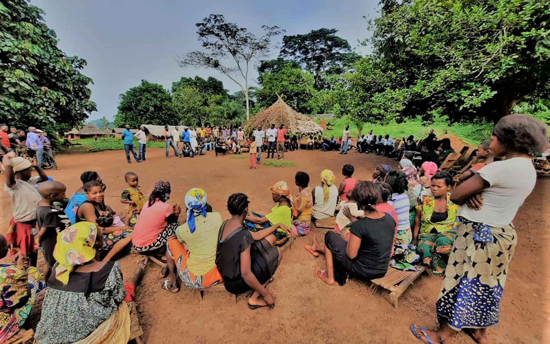 Focus group de sensibilisation sur la cartographie participative. © AWF, tous droits réservés