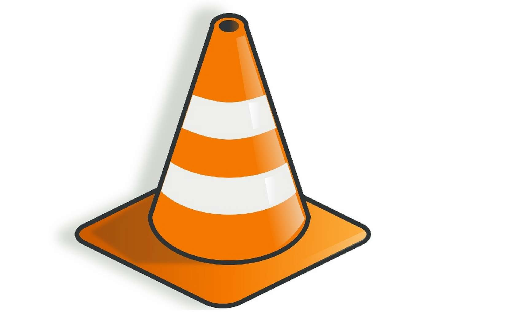 Le cône de chantier, logo emblématique de VLC Media Player. © Pixabay.com