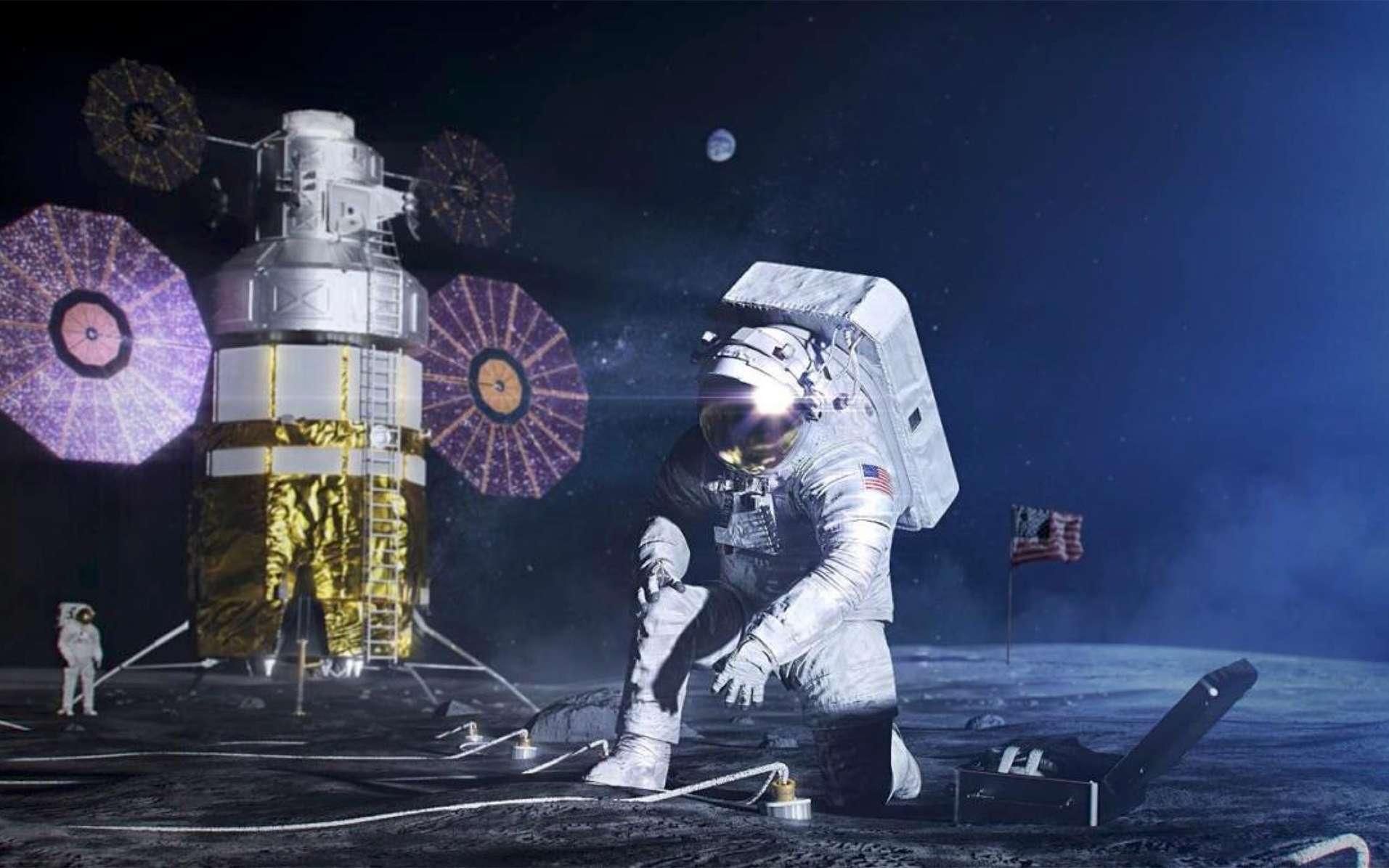 Concept de module habitable envisagé pour les premières missions habitées Artemis. © Nasa