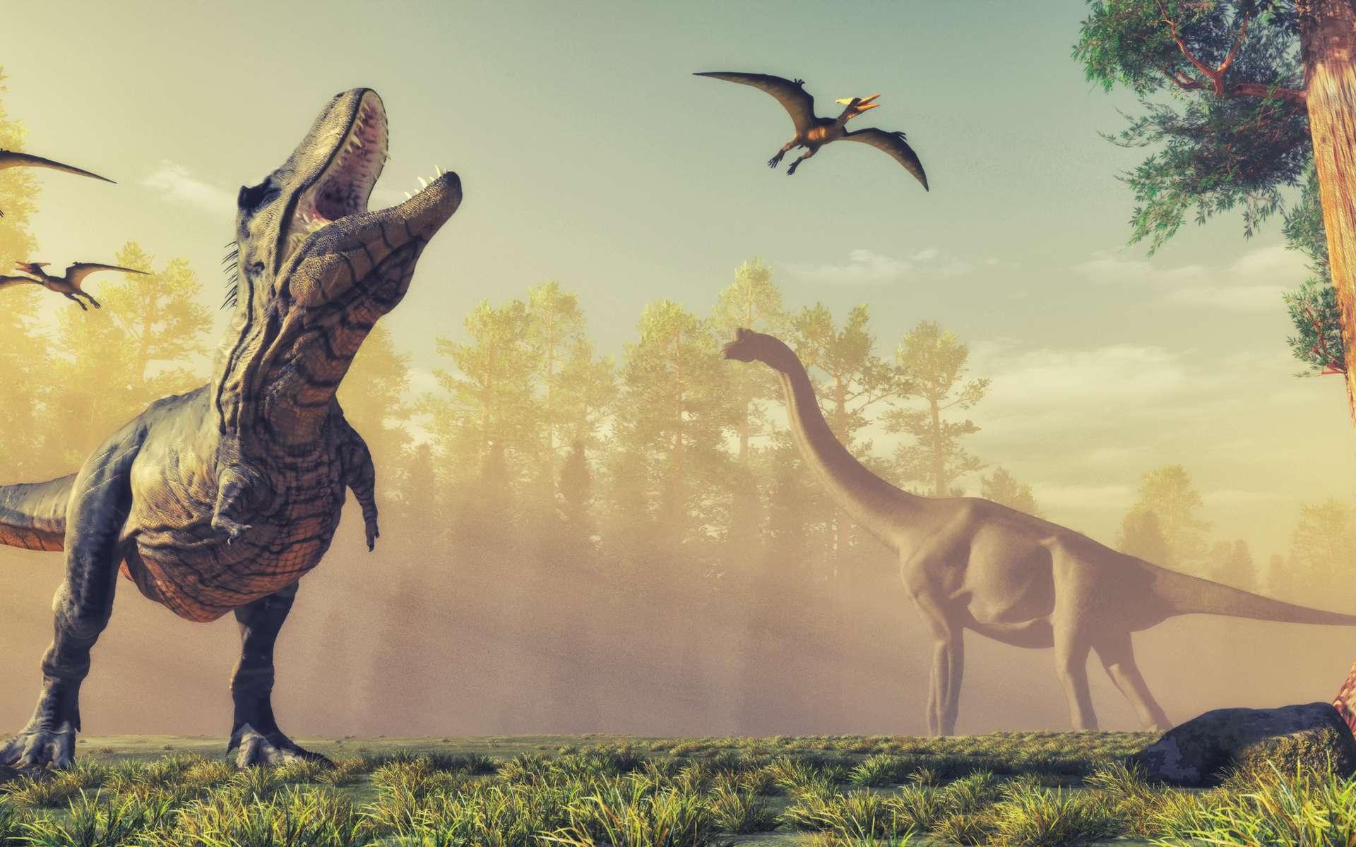 Les Tyrannosauridés étaient les prédateurs apex et ne laissaient que peu de place à leurs concurrents. © Orlando Florin Rosu, Adobe Stock