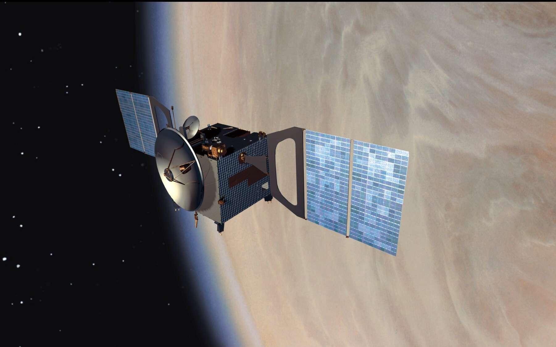 La sonde européenne Venus Express (ici en vue d'artiste) a travaillé en orbite entre 2006 et 2014. © Esa