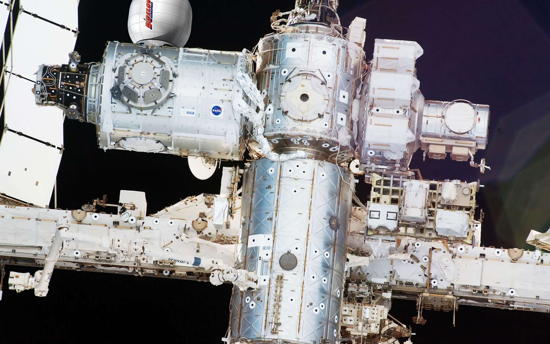En septembre 2015, la Station spatiale comptera un module de plus. Il sera temporaire (d'une durée de deux ans) et doté d'une structure gonflable. © Bigelow Aerospace