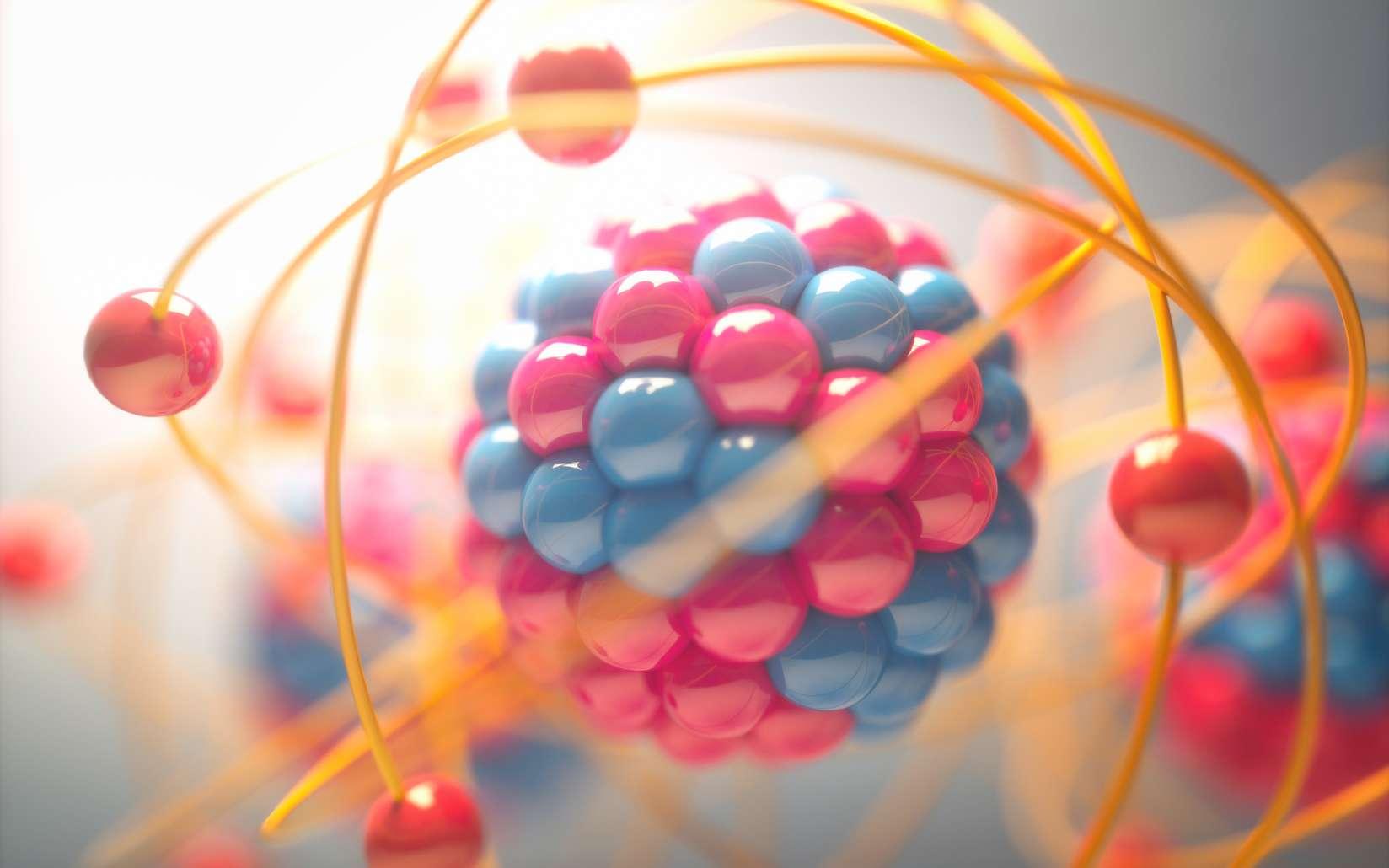 Le noyau des atomes est formé de protons et de neutrons. © ktsdesign, Fotolia