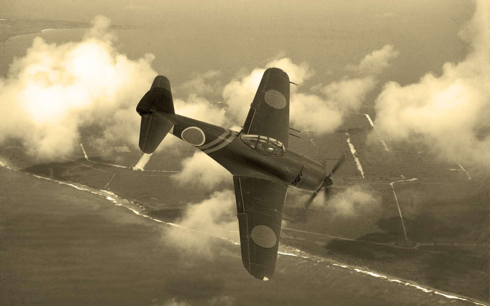 Illustration d'un avion japonais N1K-J Shiden lors de la deuxième guerre mondiale. © Keith Tarrier, fotolia