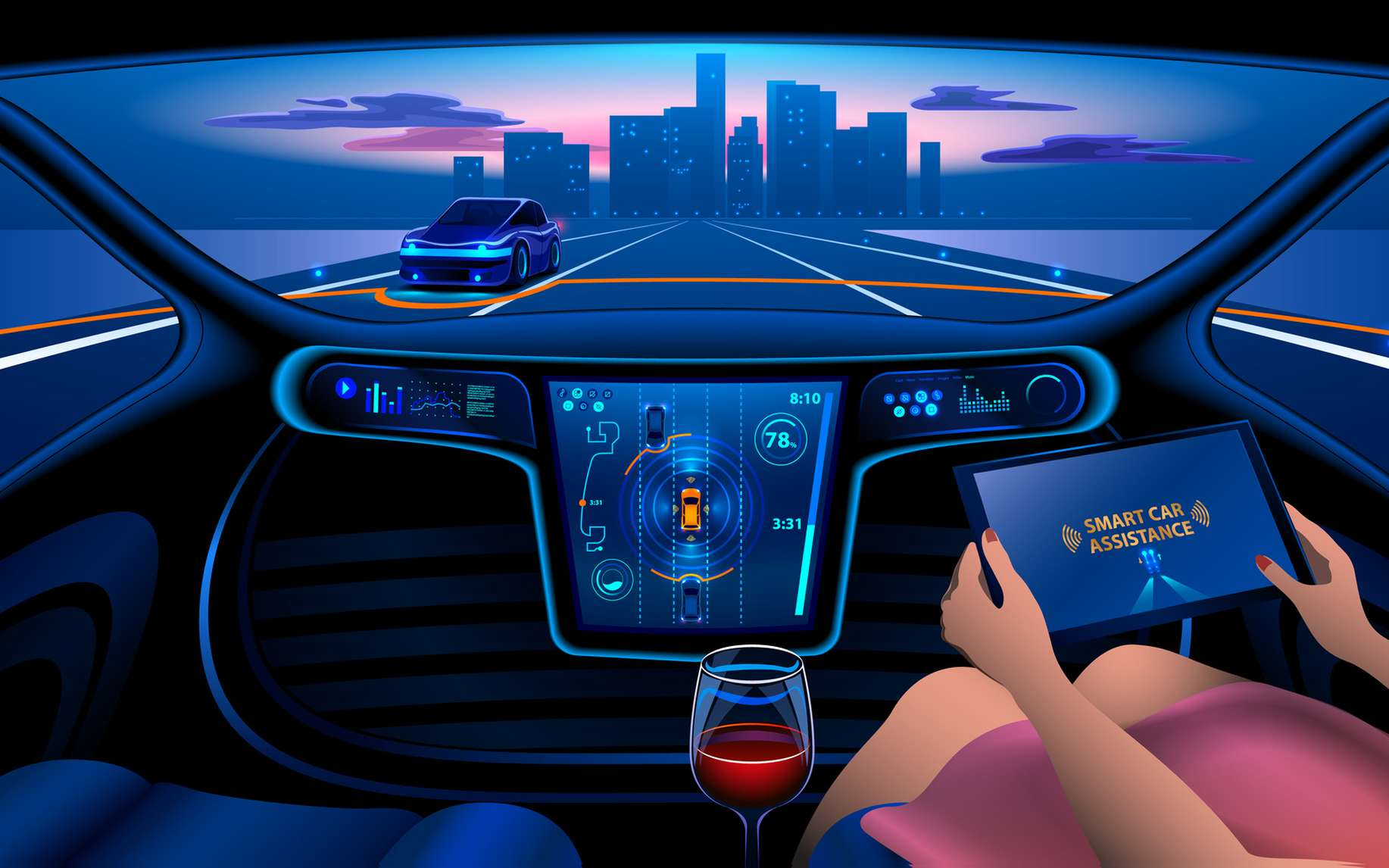 Un grand travail de pédagogie est nécessaire pour faire accepter la voiture autonome. © AndSus, Fotolia