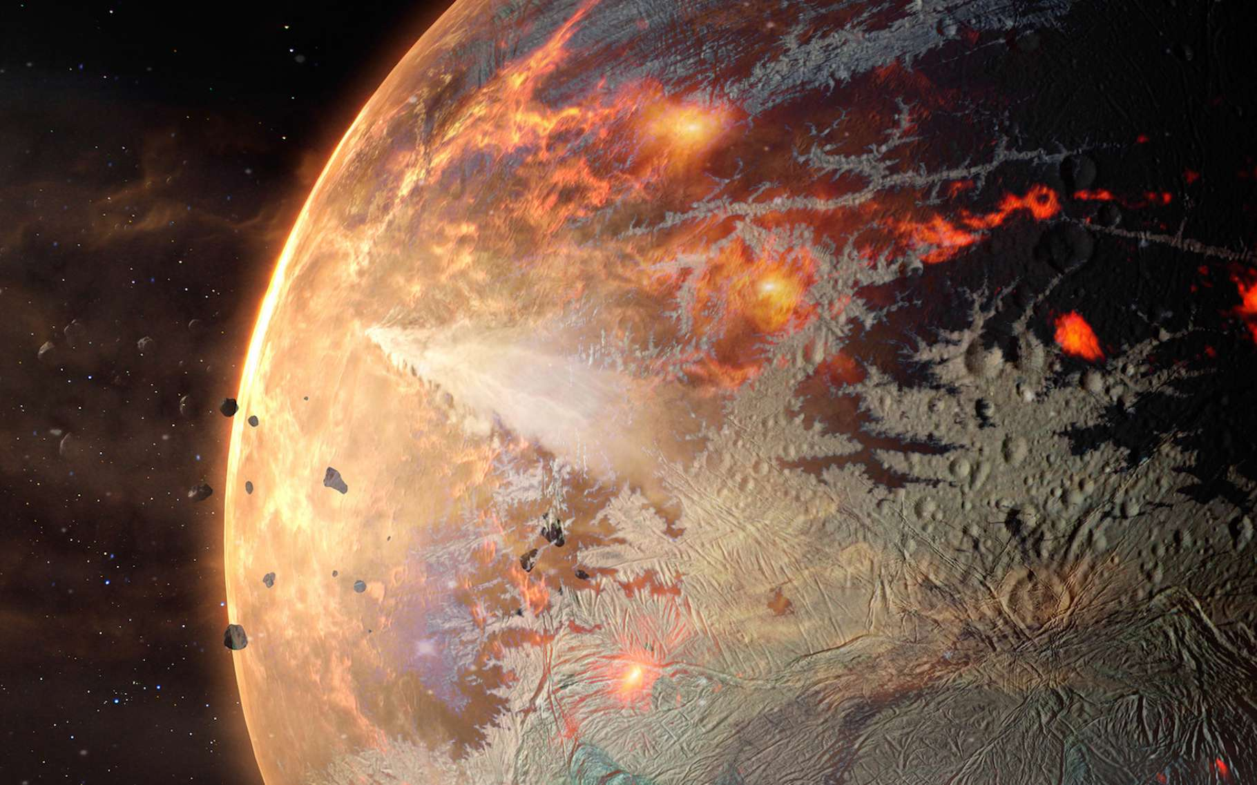 Des chercheurs ont découvert une exoplanète qui laisse s'échapper des métaux lourds. Une planète qu'ils qualifient de « plus chaude que chaude ». © elen31, Fotolia