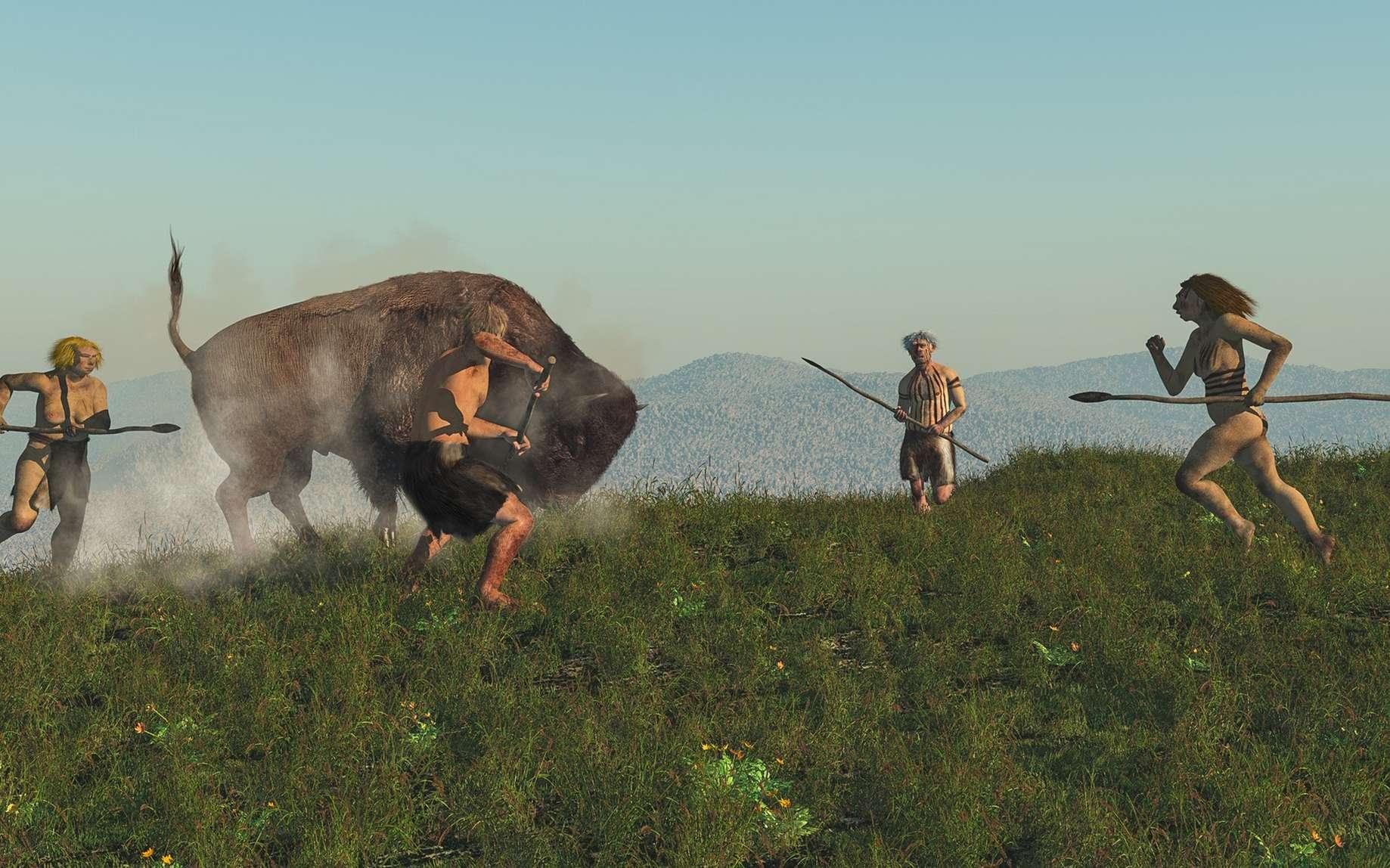 Néandertal avait plus le corps d'un sprinter que celui d'un marathonien. © nicolasprimola, Fotolia