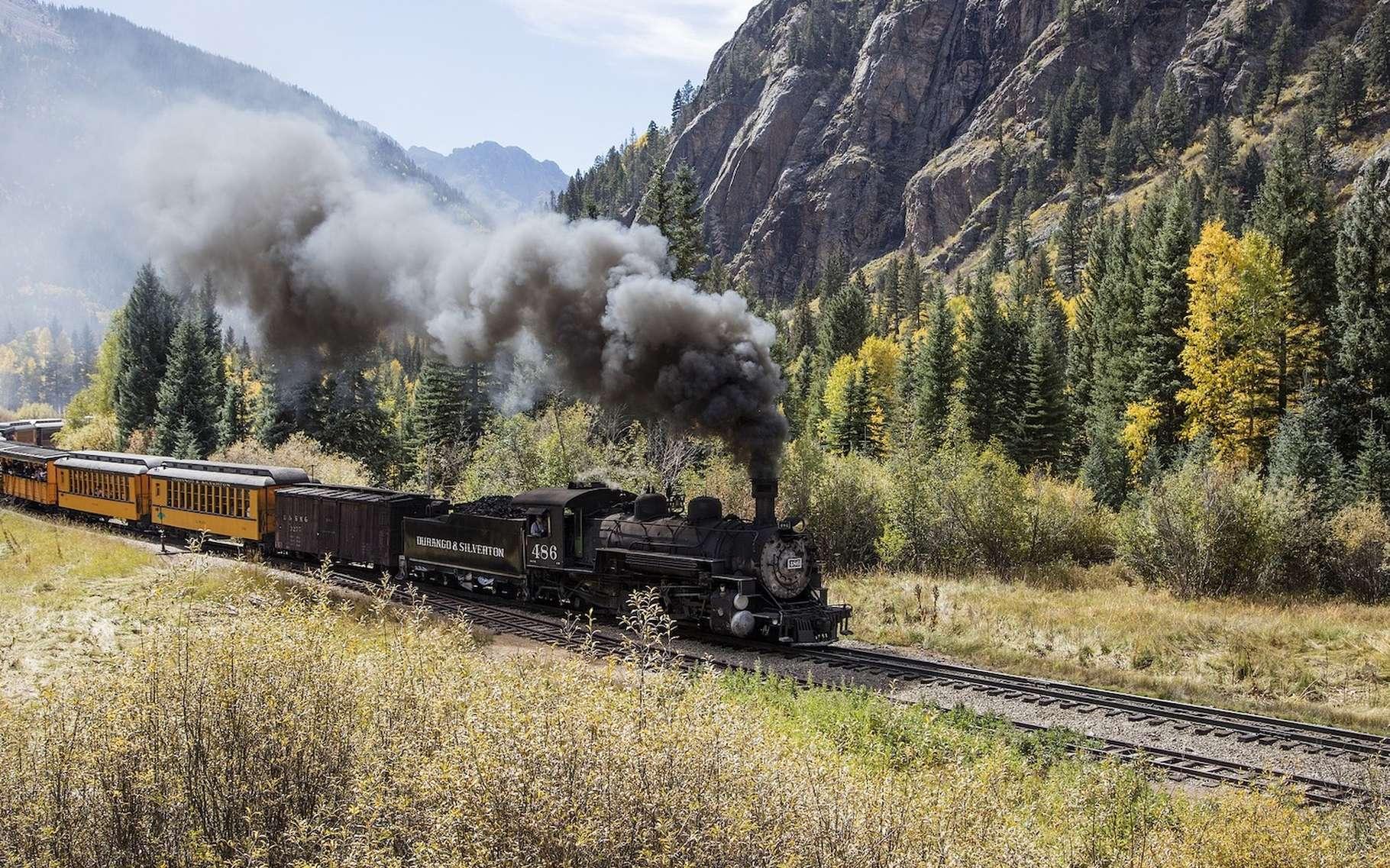 La locomotive à vapeur, généralement reléguée aujourd'hui à des balades touristiques, est le symbole des usages de la vapeur dans l'industrie. © skeeze, Pixabay, CC0 Creative Commons