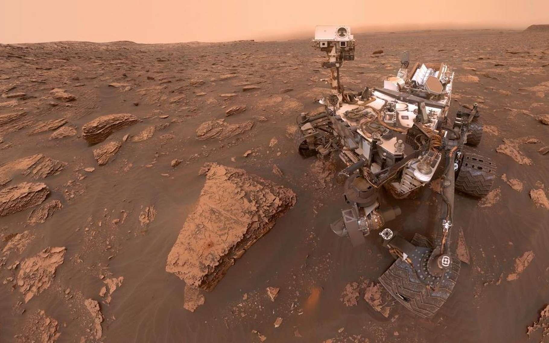 À plusieurs reprises, le rover Curiosity a détecté du méthane (CH4) sur Mars. Mais la sonde Trace Gas Orbiter n'a jamais pu confirmer les mesures. Les chercheurs de la Nasa proposent aujourd'hui enfin une explication. © Nasa, JPL Caltech, MSSS