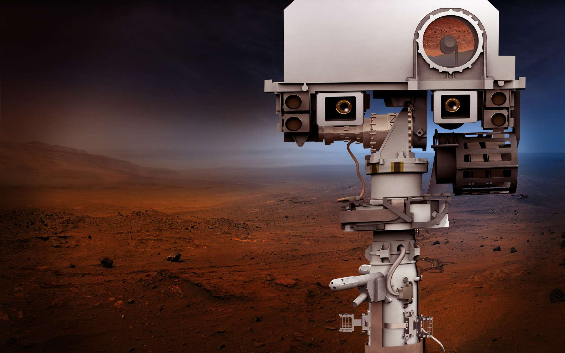 Portrait de Mars 2020. Le rover qui reprend plusieurs caractéristiques de Curiosity, débarquera sur Mars en 2021. © Nasa