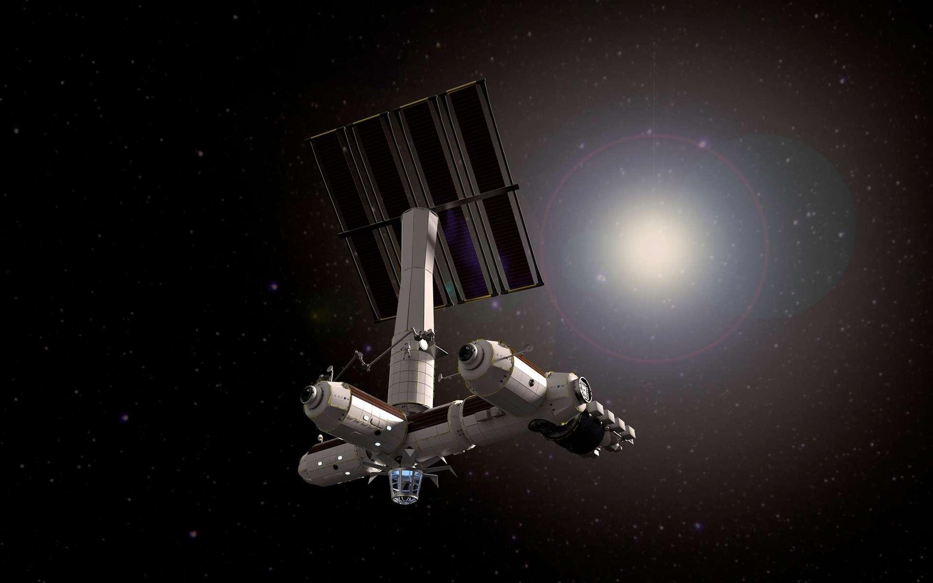 Projet de Station spatiale privée d'Axiom. © Axiom