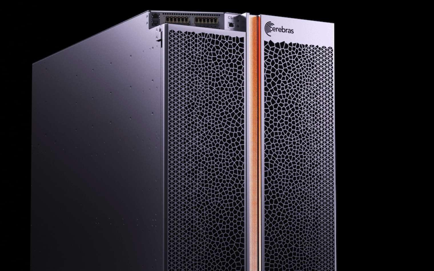 Le Cerebras CS-1 est un supercalculateur pour l'apprentissage profond basé sur le processeur géant Wafer Scale Engine. © Cerebras