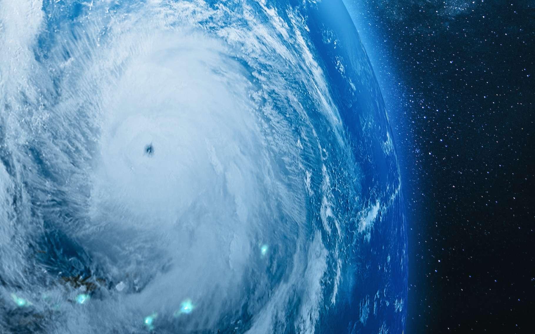 Sur Terre comme sur d'autres planètes, les ouragans comme celui-ci sont fréquents. Mais pour la première fois, des chercheurs de l'université de Reading (Royaume-Uni) ont observé un ouragan spatial, dans la haute atmosphère de notre Planète. © OSORIOartist, Adobe Stock
