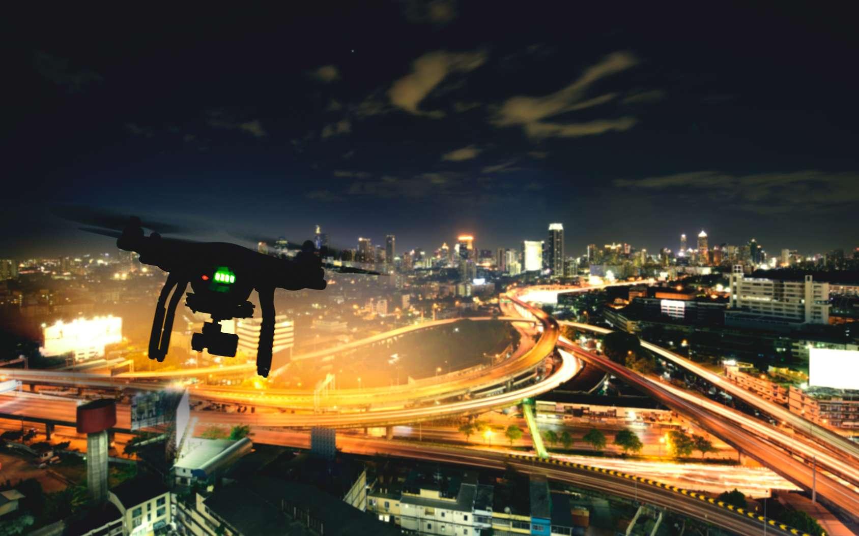 Drones et robots se sont unis pour créer un pavillon digne de la science-fiction ! © Thongsuk, Fotolia