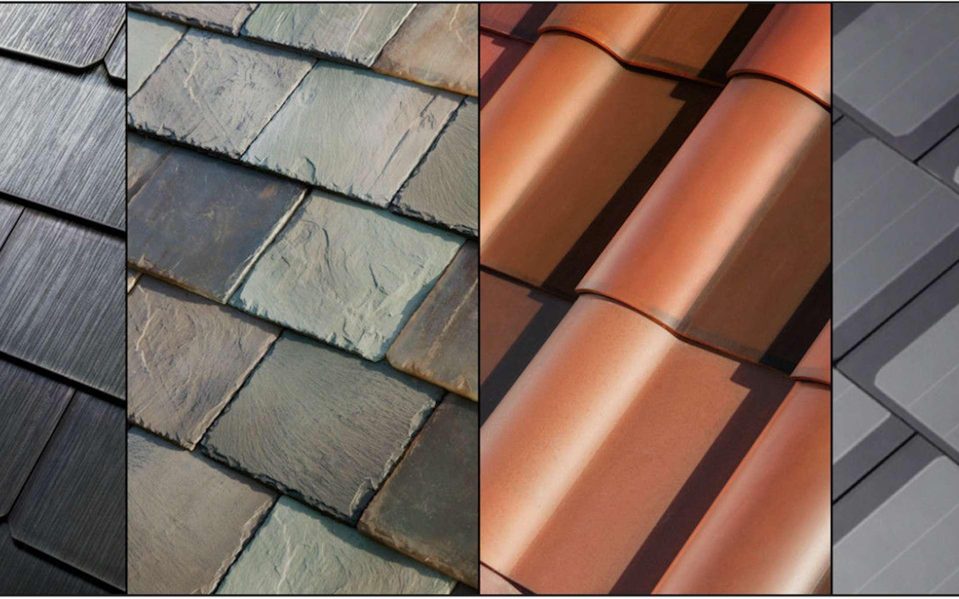 De gauche à droite : styles texturé, ardoise, Toscane et lisse. © Tesla