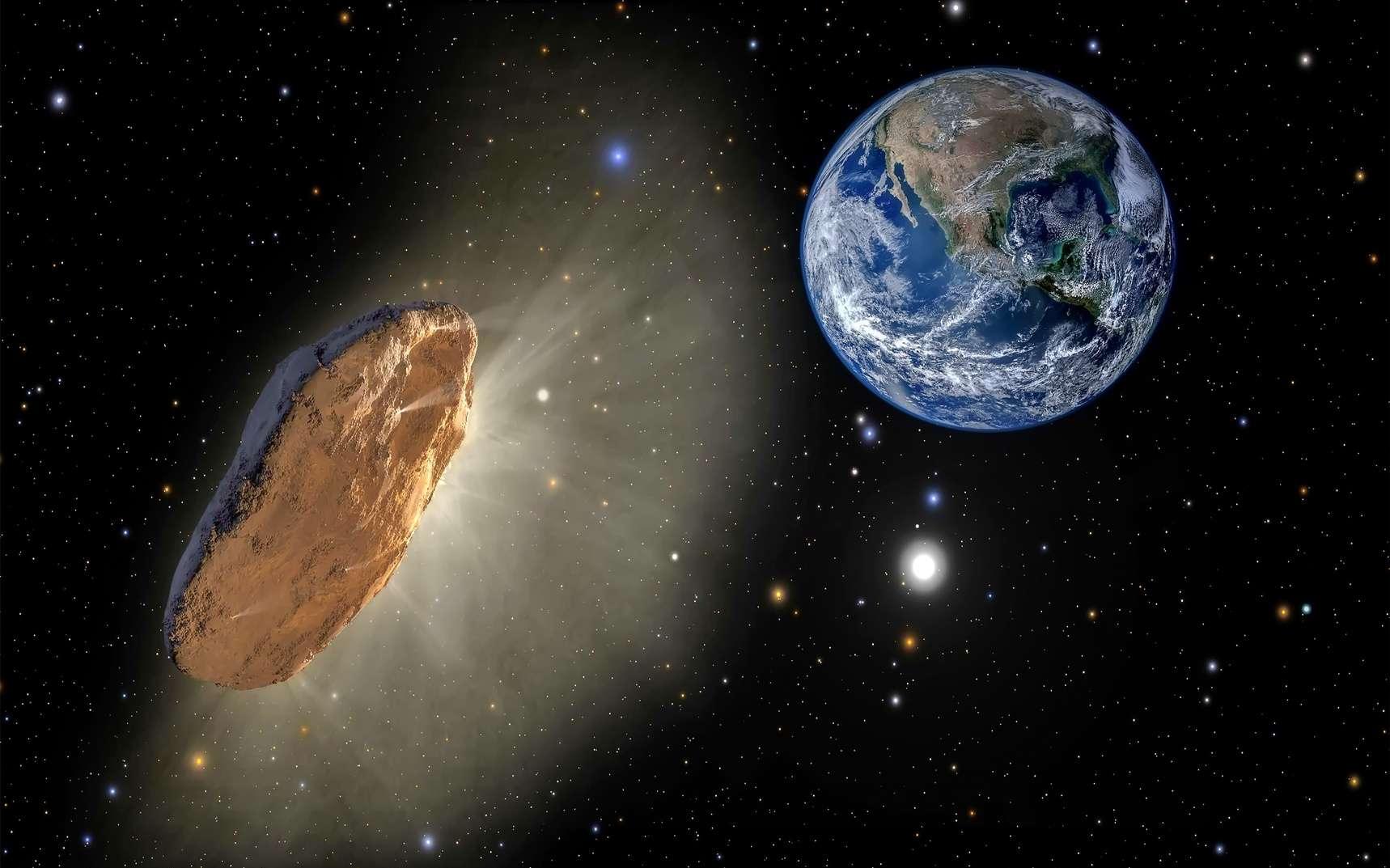 Illustration d'une comète interstellaire approchant de la Terre. © blackdiamond67, Fotolia