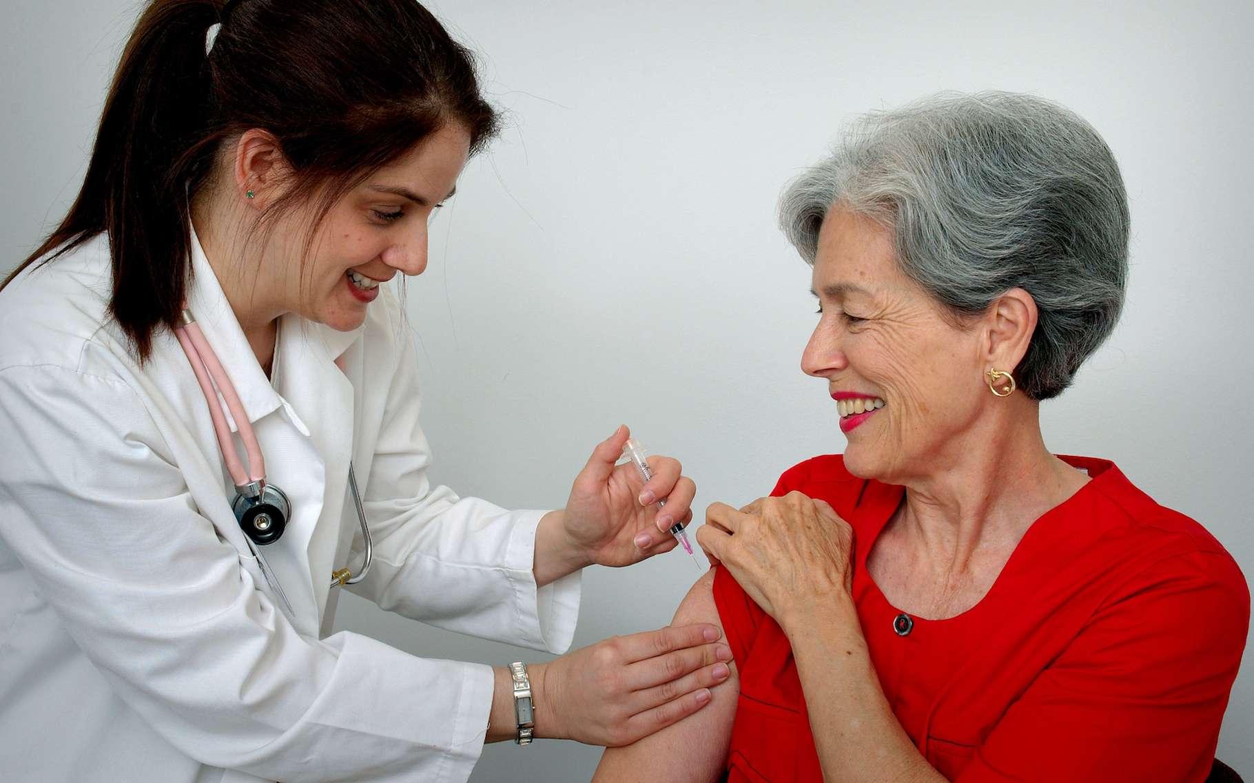 La campagne nationale de vaccination s'adresse aux 11 millions de personnes âgées ou fragilisées par certaines maladies chroniques et aussi aux femmes enceintes qui peuvent se faire vacciner gratuitement. Neuf à 14 jours sont nécessaires pour être immunisé. © James Gathany, Judy Schmidt, USCDCP, Pixnio
