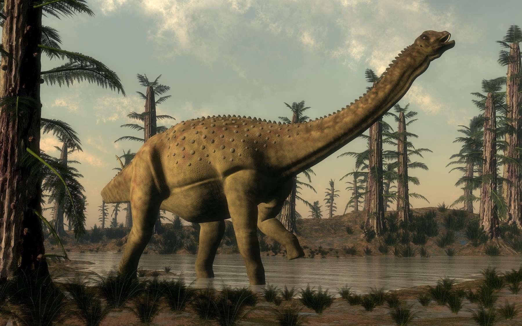 Uberabatitan, un titanosaure du Crétacé supérieur retrouvé au Brésil. © Elenarts, Adobe Stock