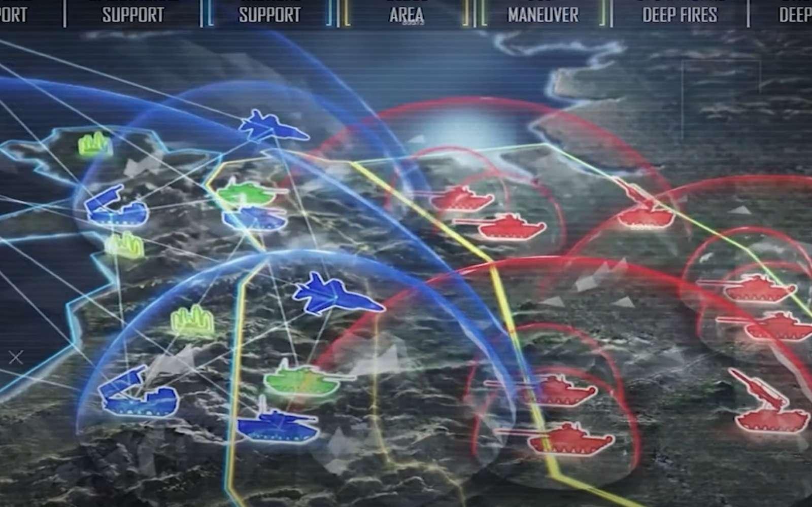 En donnant plus d'autonomie à l'IA, les soldats pourraient contrer l'attaque d'un essaim de drones armés. © United States Army Futures Command
