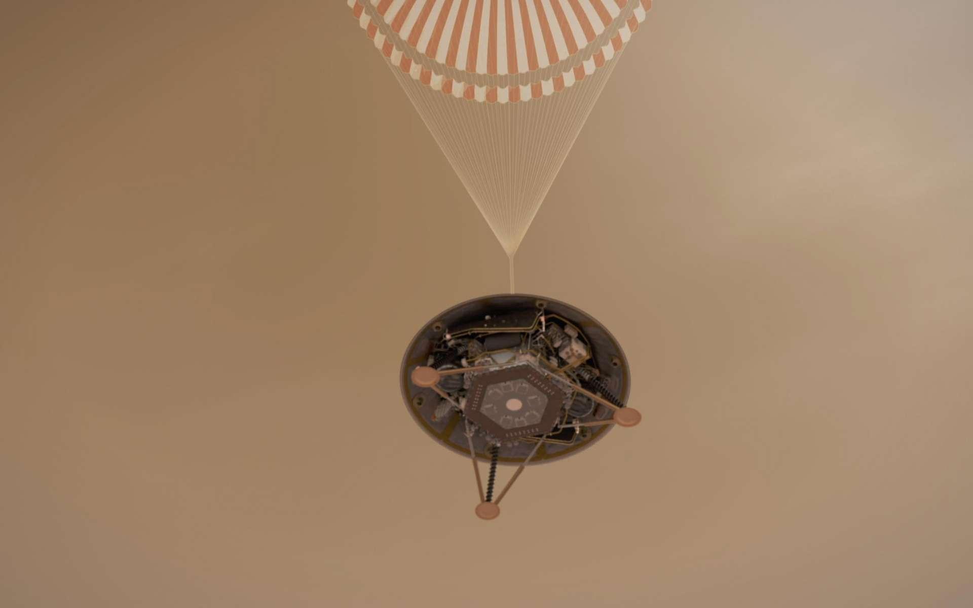 Atterrissage d'InSight. © Nasa, JPL
