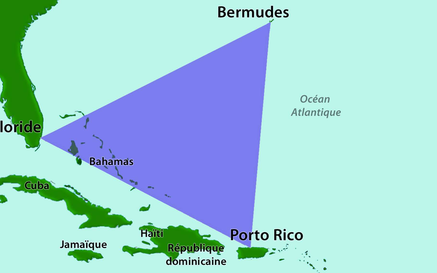 Le triangle des Bermudes. © DS003, Wikimedia commons, CC by-sa 3.0