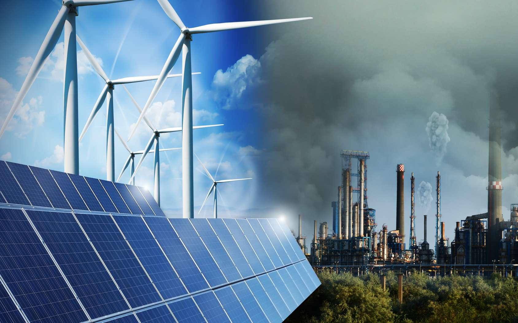 Plus d'éoliennes, mais pas moins d'émissions de CO2. © adrian_ilie825 - Fotolia.com