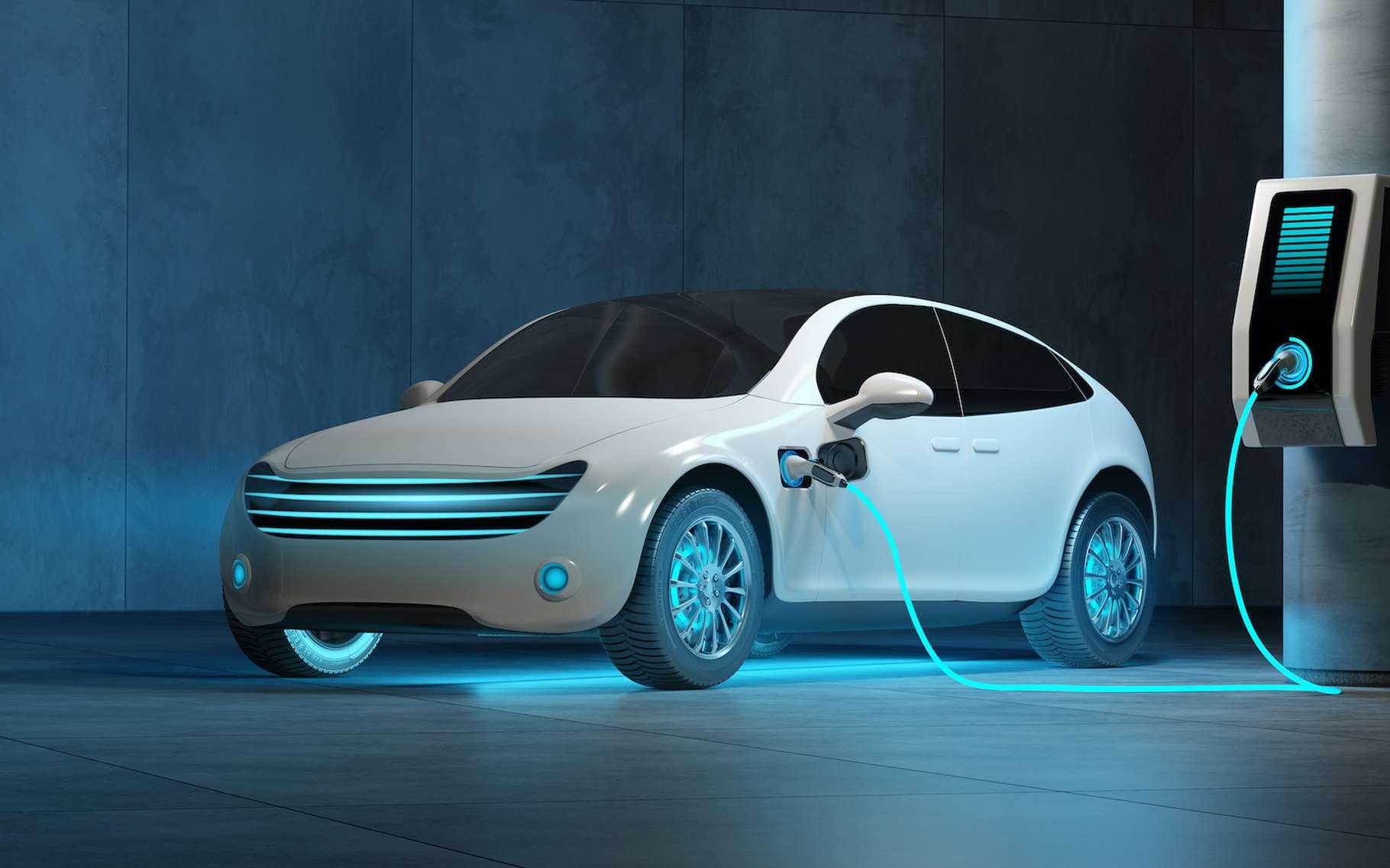 Lorsqu'il est question de véhicule électrique, les batteries sont au cœur des enjeux. Et la solution développée par Nawa Technologies pourrait apporter l'efficacité tant attendue : 5 minutes pour atteindre les 80 % de charge et 1.000 km d'autonomie. © iaremenko, Adobe Stock