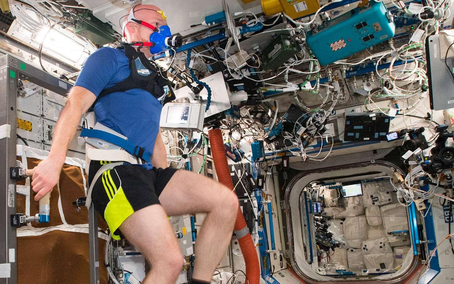 L'astronaute européen, de nationalité allemande, Alexander Gerst, à bord de la Station spatiale internationale (août 2018). © ESA, Nasa