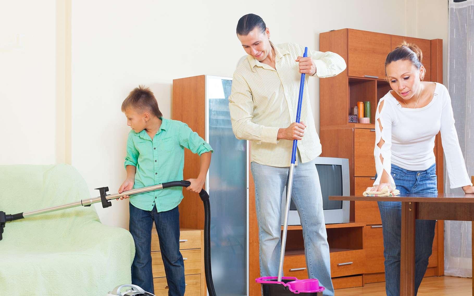 Pour faire le ménage, utilisez du vinaigre plutôt que des produits chimiques parfumés. © Iakov Filimonov, Shutterstock