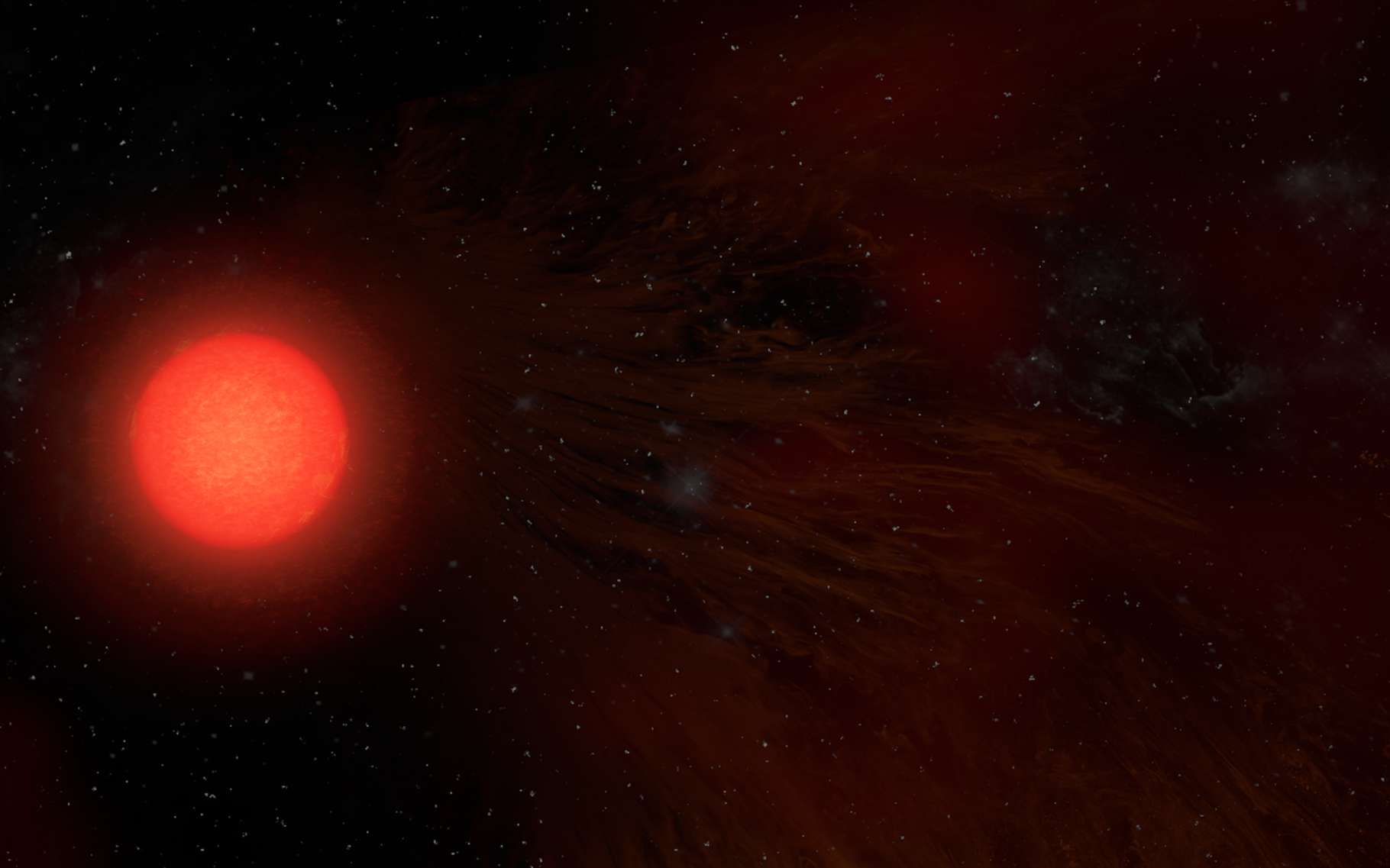 Antarès est la supergéante rouge la plus proche de la Terre. Des astronomes viennent d'en apprendre un peu plus sur sa mystérieuse atmosphère. © S. Dagnello, NRAO, AUI/NSF