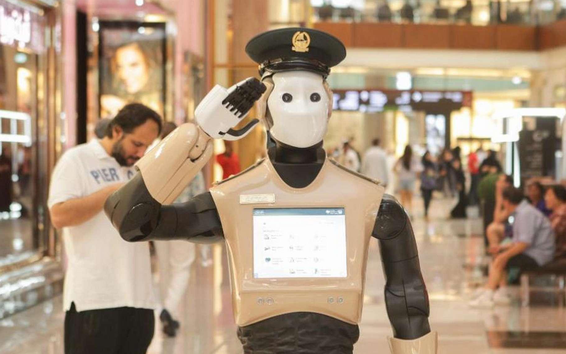 Le robot policier mis en service à Dubaï a été conçu sur la base du robot REEM de la société espagnole Pal Robotics. © Dubai Media Office